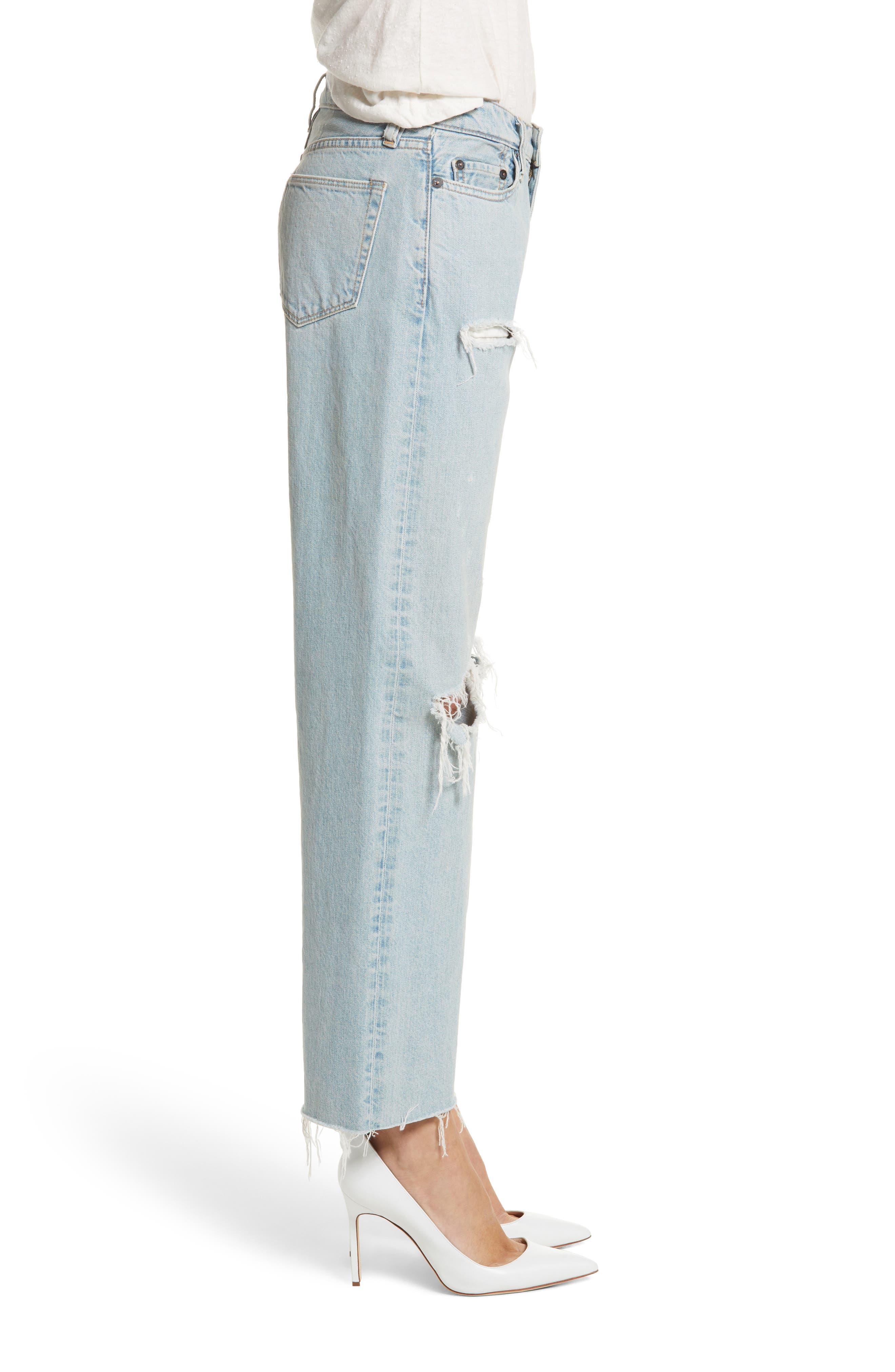 Tibbee Ripped Jeans,                             Alternate thumbnail 4, color,                             Light Indigo