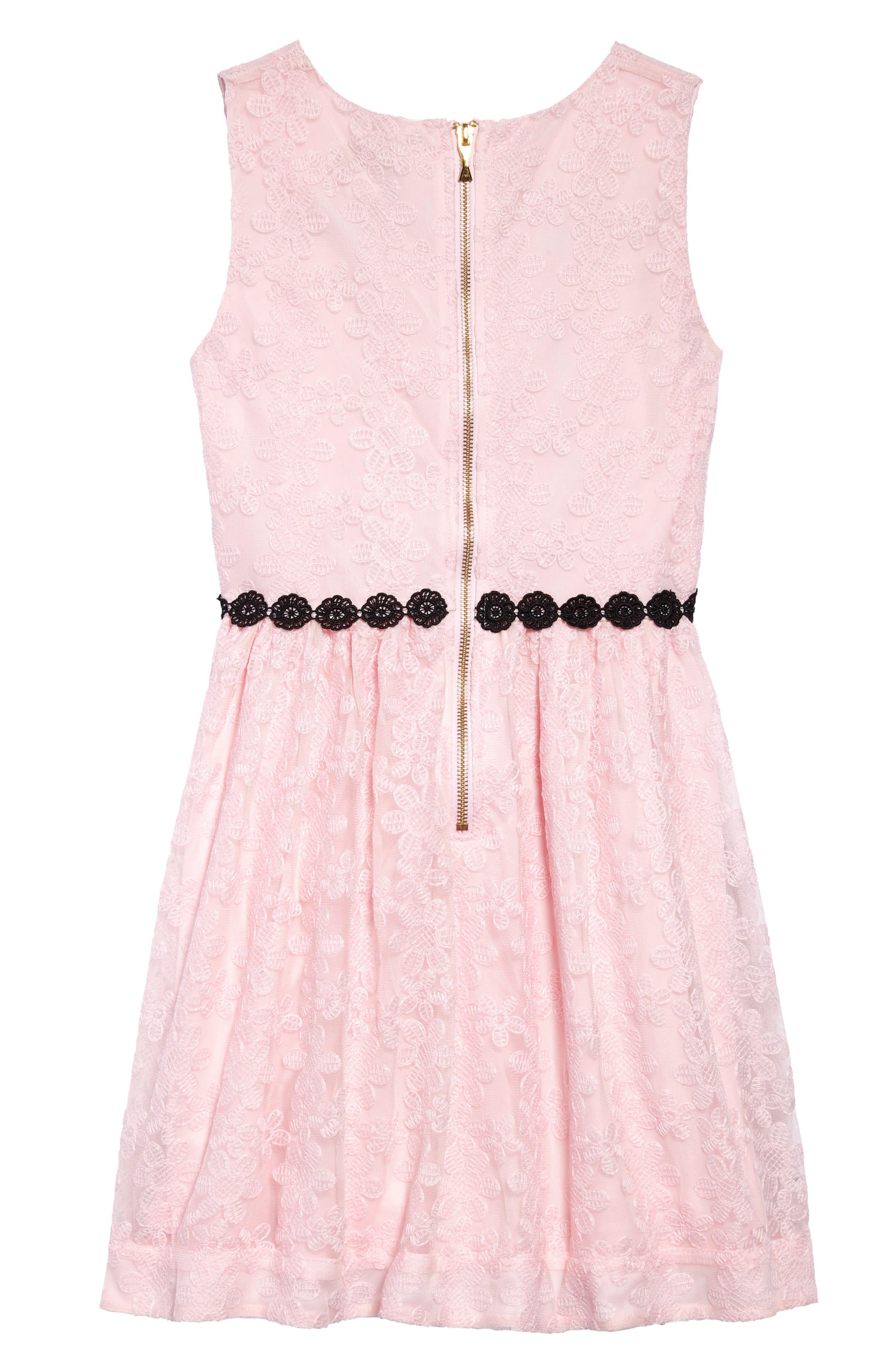 floral mesh sleeveless dress,                             Alternate thumbnail 2, color,                             Sonata Pink