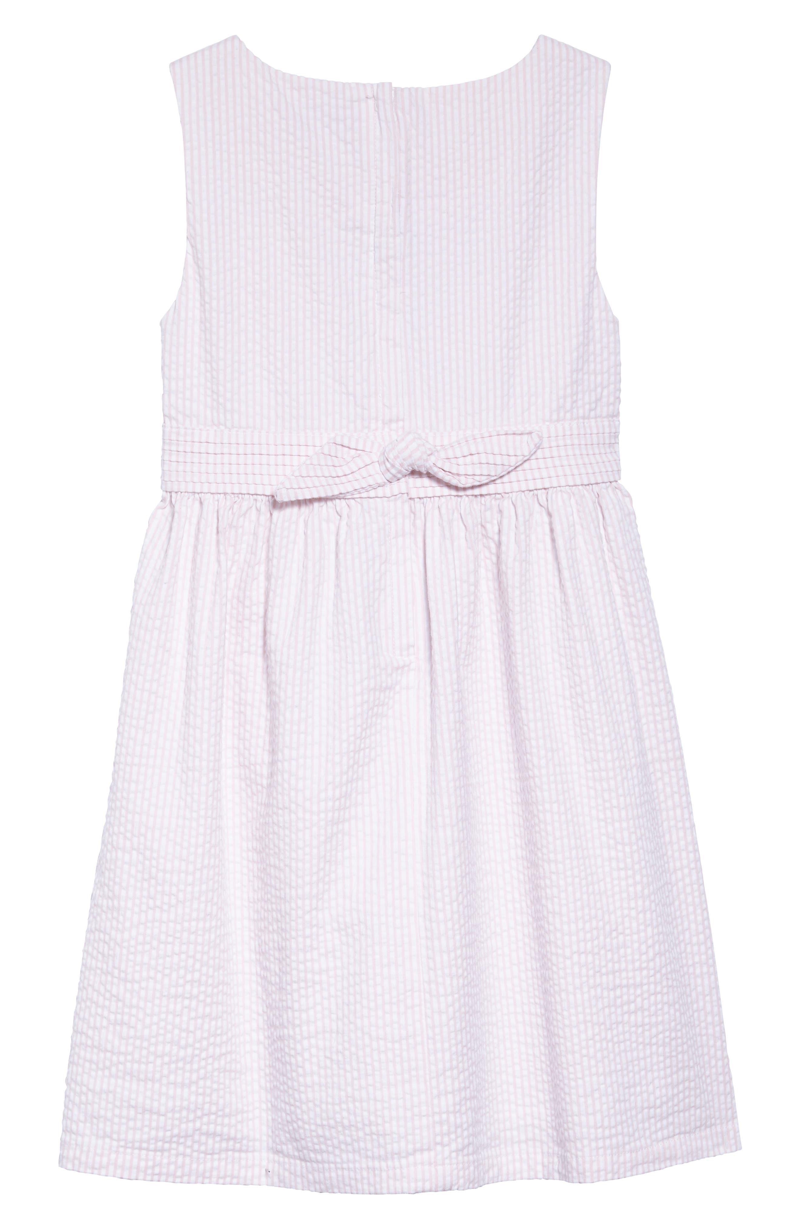 Seersucker Dress,                             Alternate thumbnail 2, color,                             Flamingo