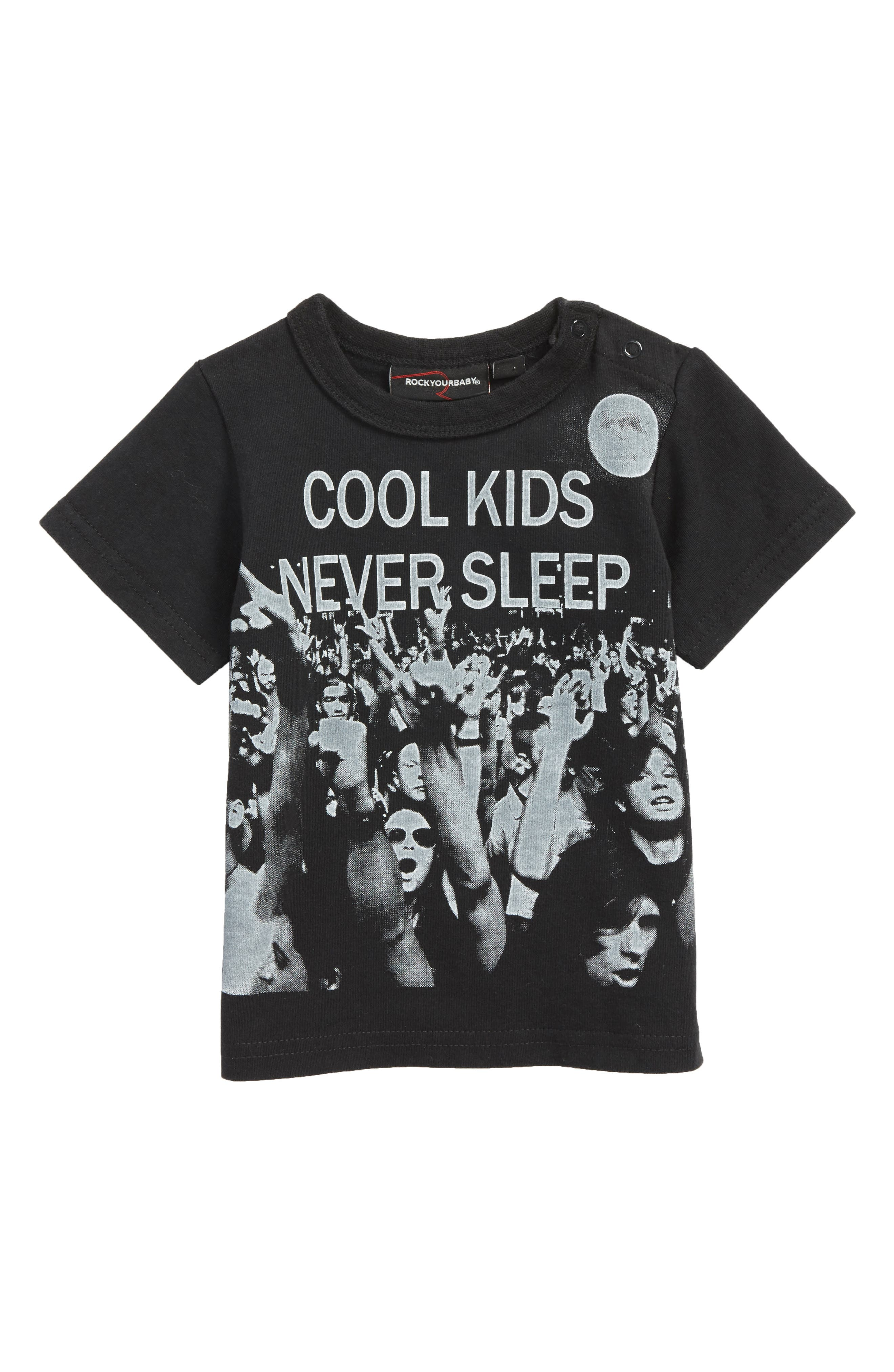 Cool Kids Graphic T-Shirt,                         Main,                         color, Washed Black