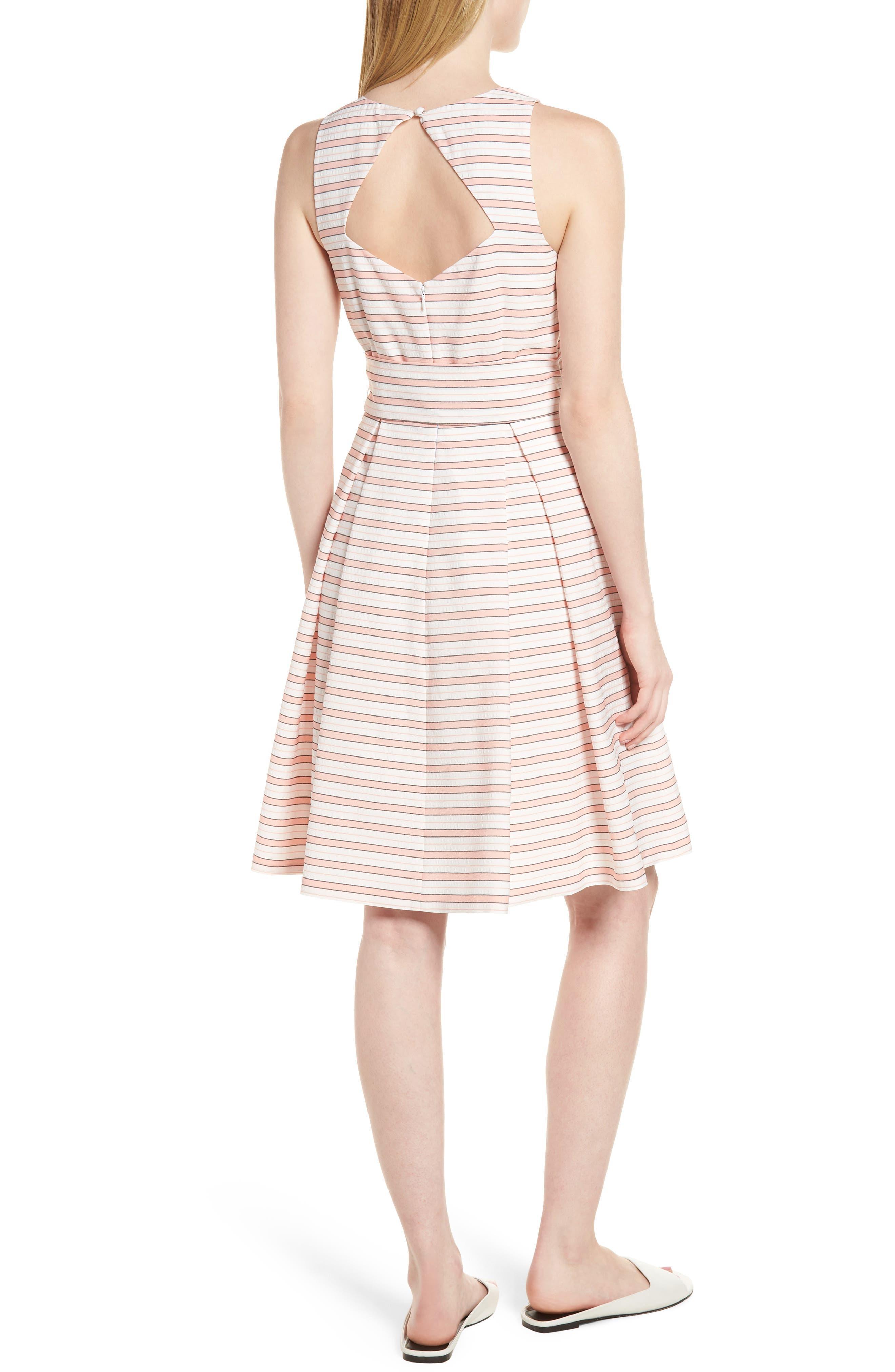 Stripe Tie Waist Dress,                             Alternate thumbnail 2, color,                             Pink Stripe