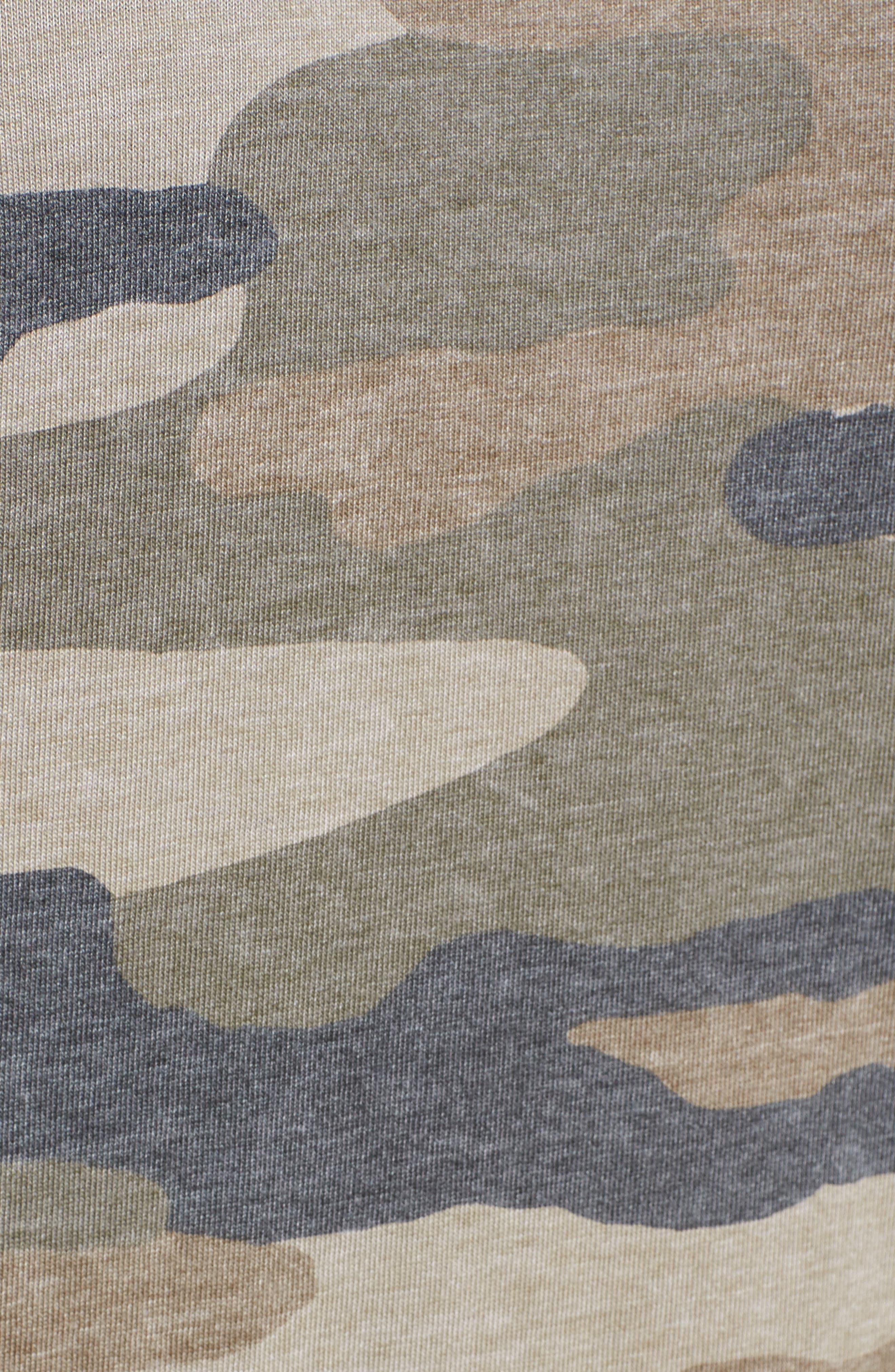 Camo Print Dress,                             Alternate thumbnail 6, color,                             Multi