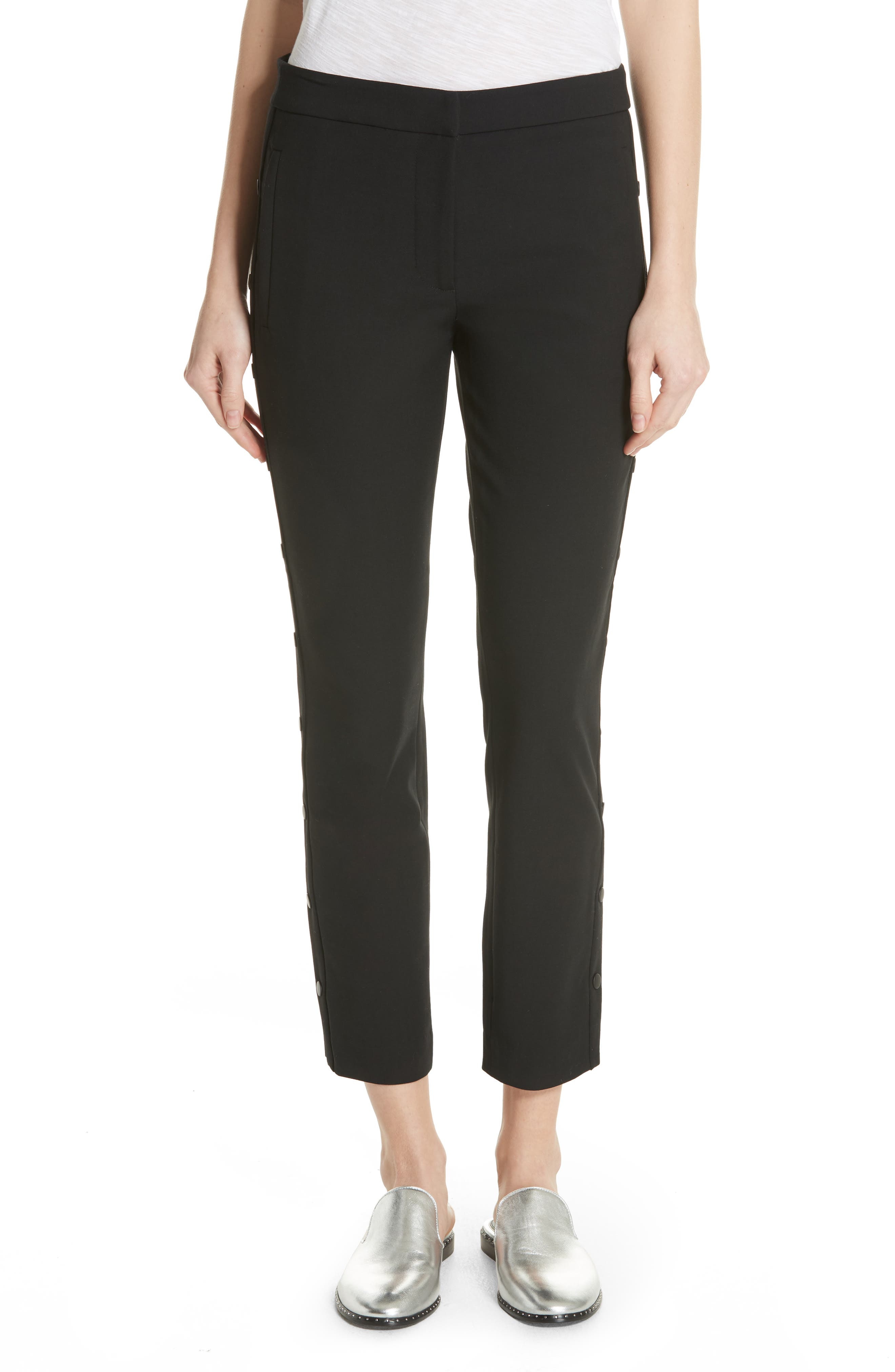 Skinny Crop Pants,                         Main,                         color, Black