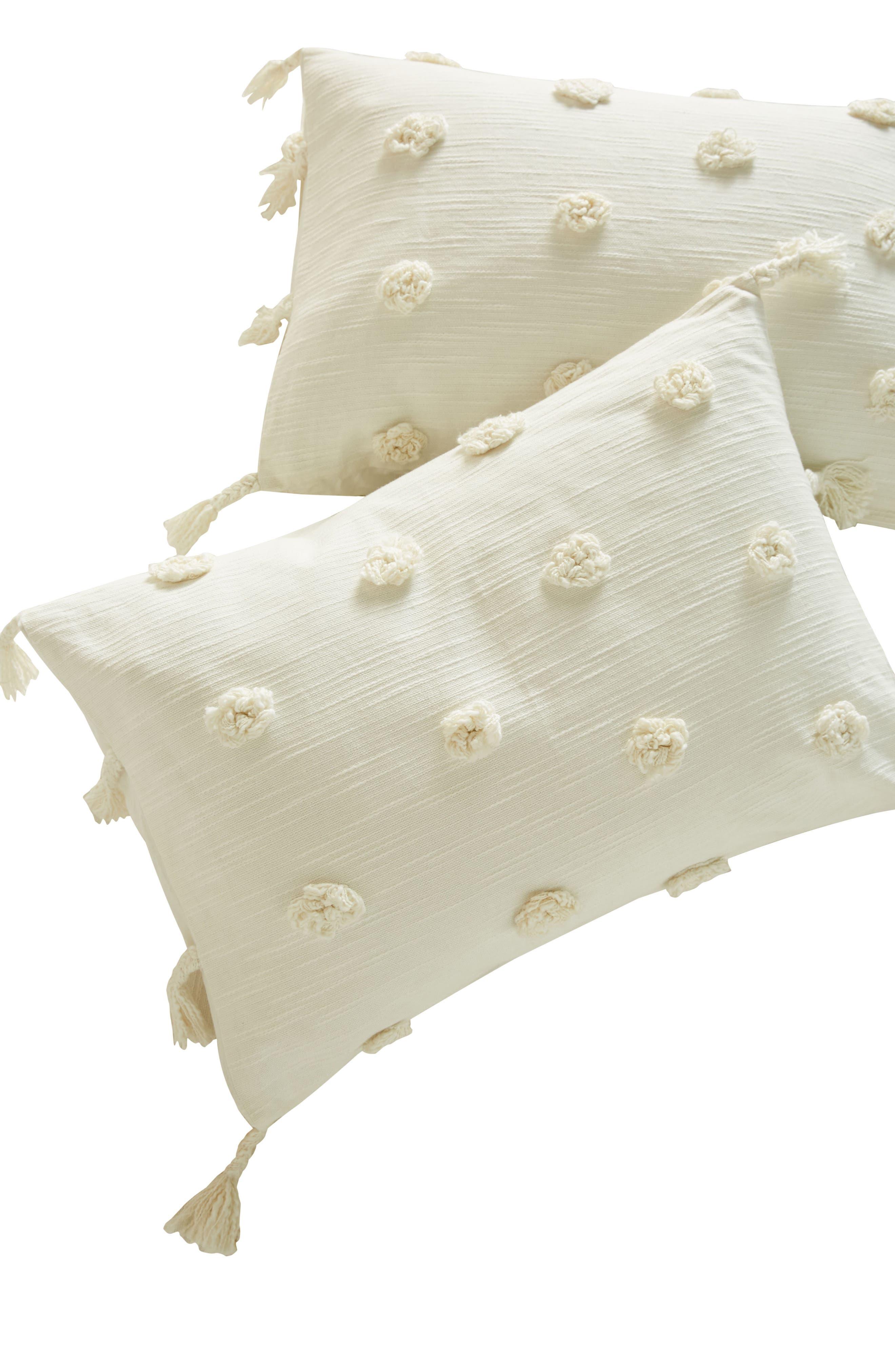 Tufted Pavarti Pillow Shams,                             Alternate thumbnail 2, color,                             Ivory