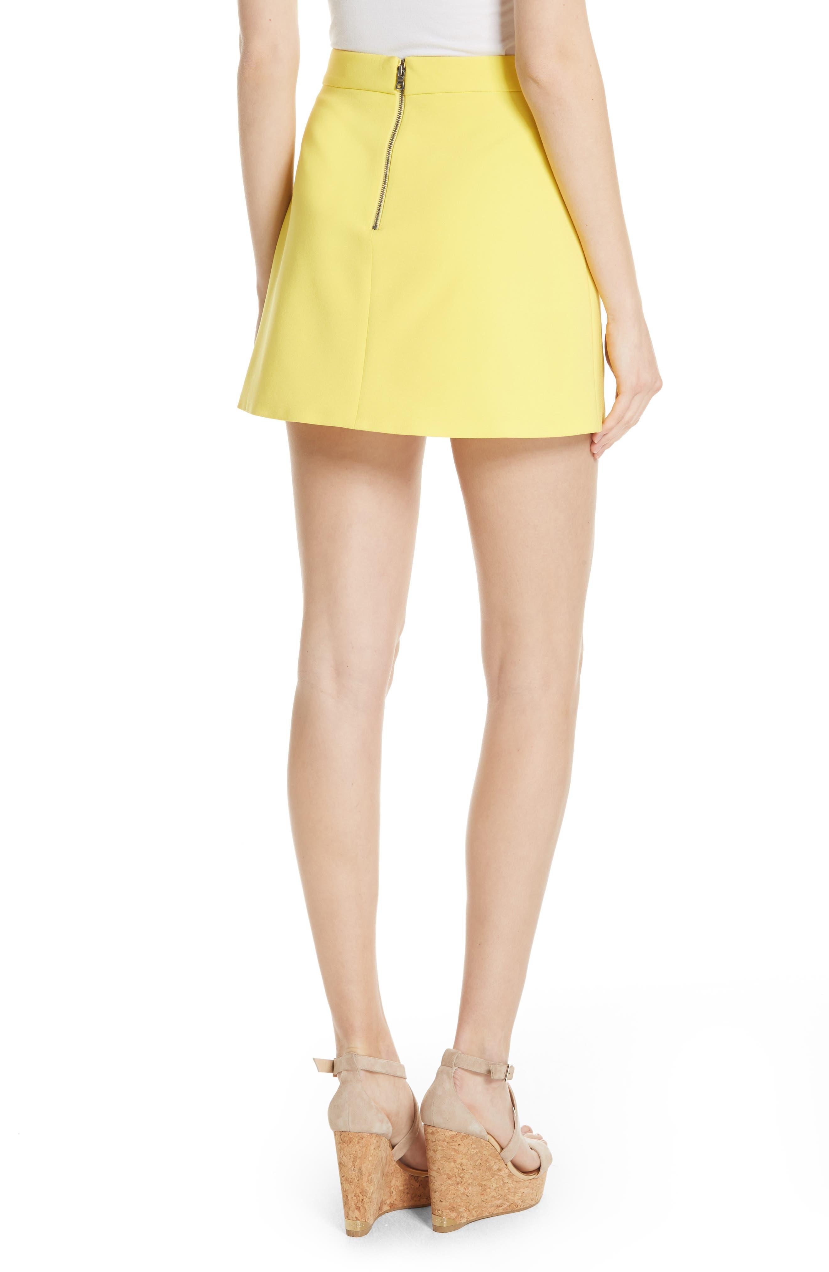 Lennon Side Zip Miniskirt,                             Alternate thumbnail 2, color,                             Lemon