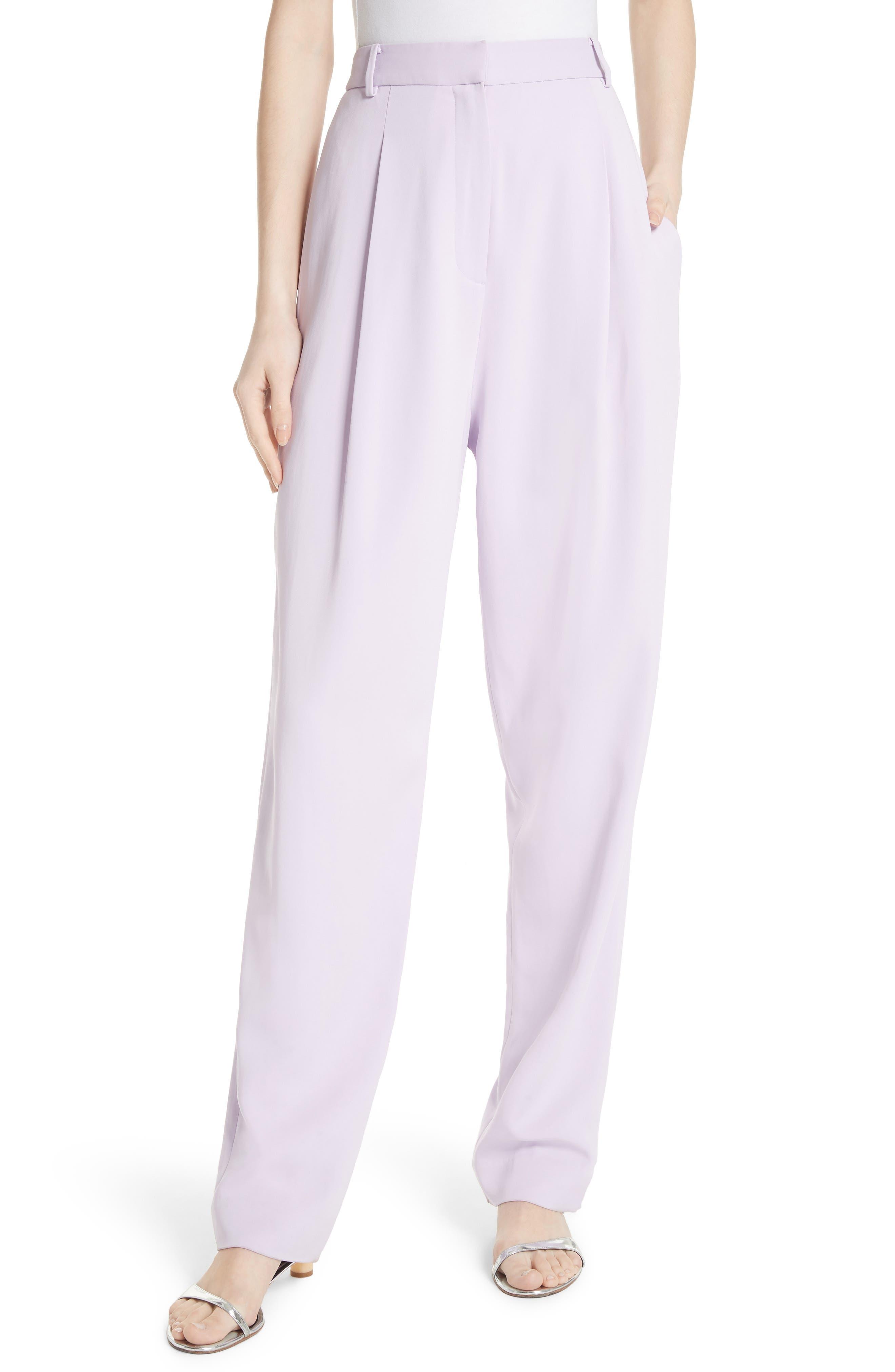 Sculpted Pleat Front Suit Pants,                         Main,                         color, Lavender