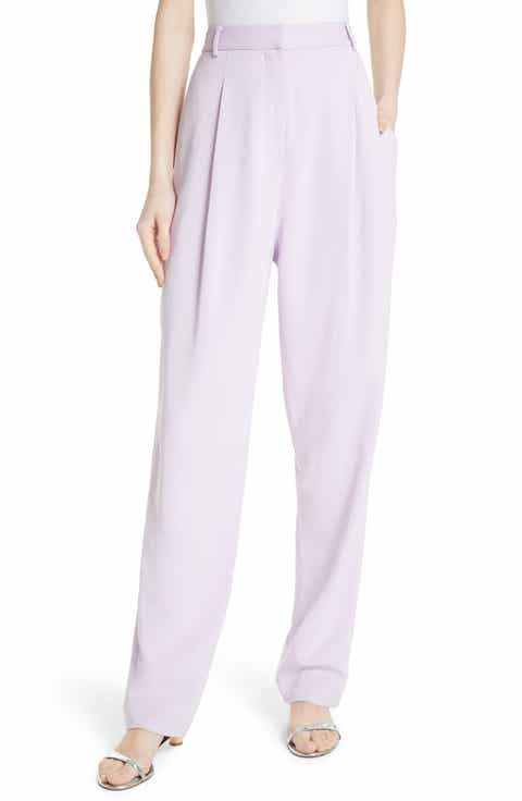 Tibi Sculpted Pleat Front Suit Pants