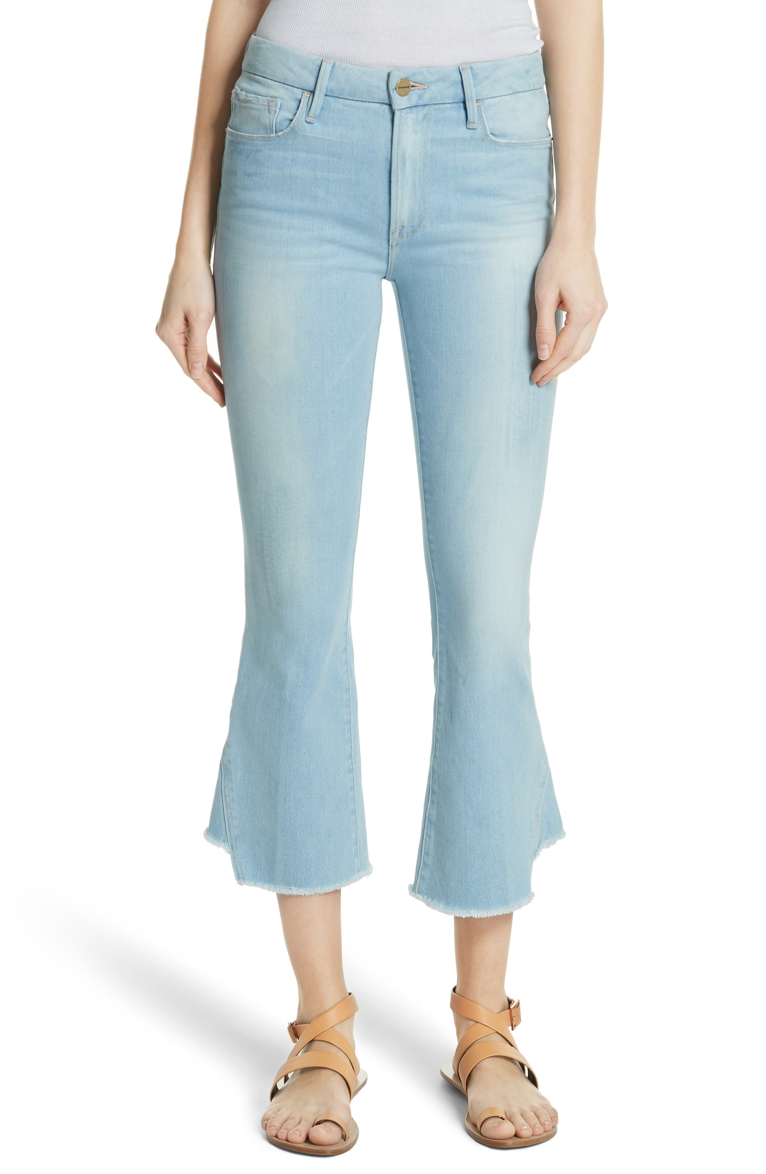 FRAME Le Crop Gusset Step Hem Mini Boot Jeans (Pleasant)