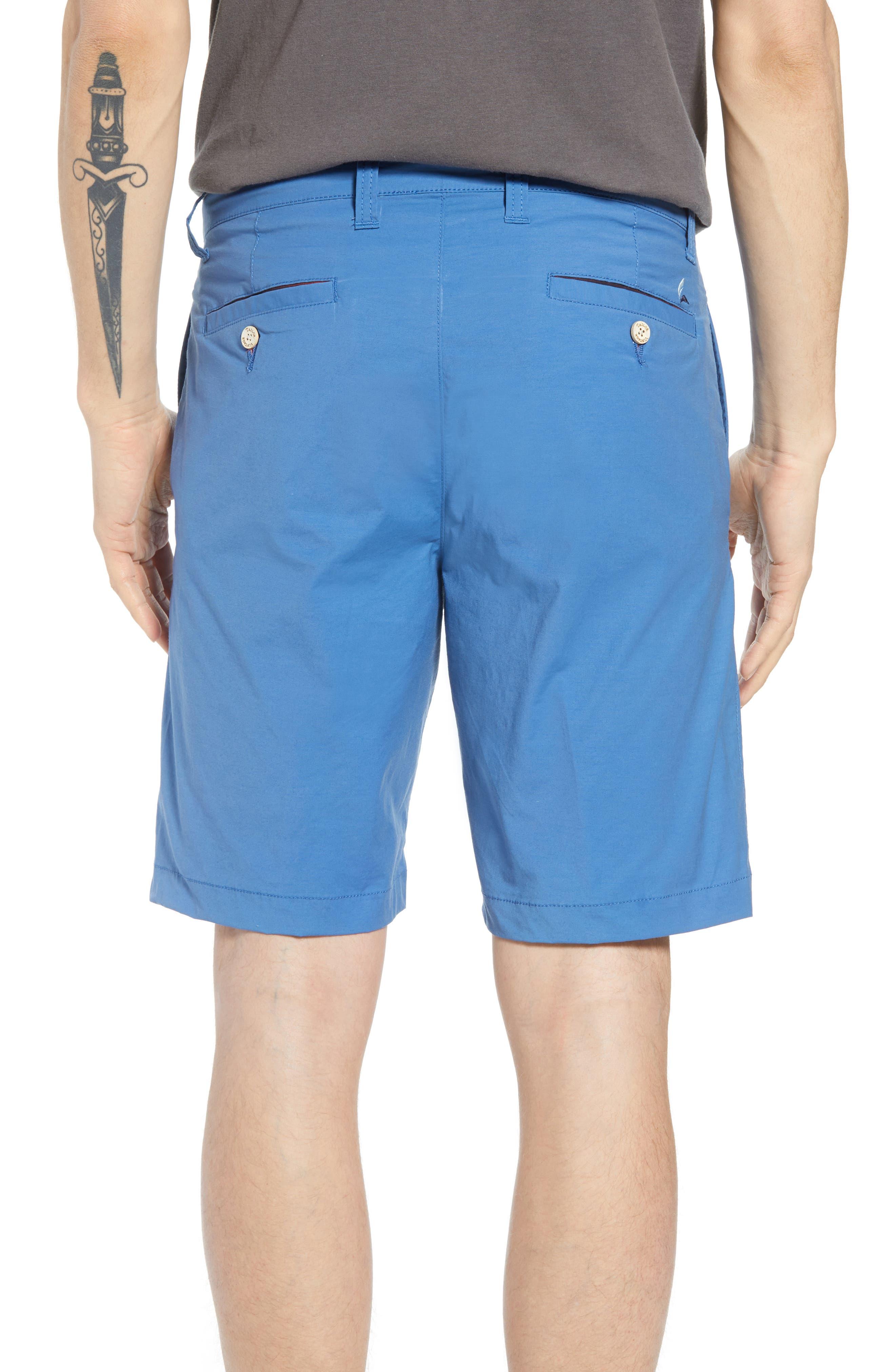 Stretch Cotton Blend Shorts,                             Alternate thumbnail 2, color,                             Delft