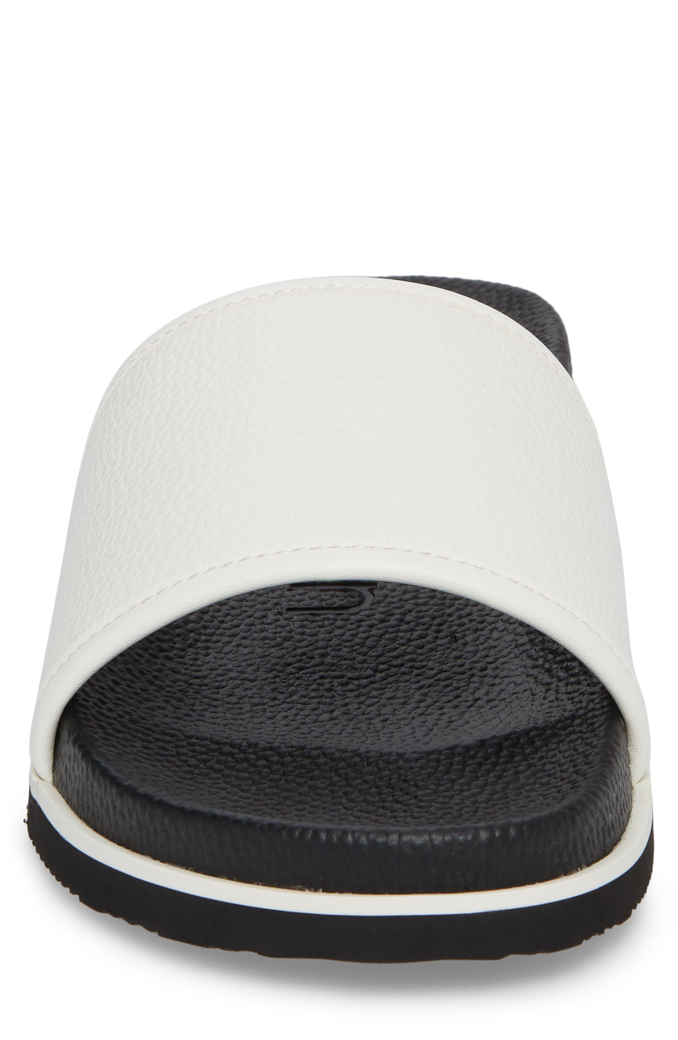 Mackee Sport Slide,                             Alternate thumbnail 4, color,                             White Leather