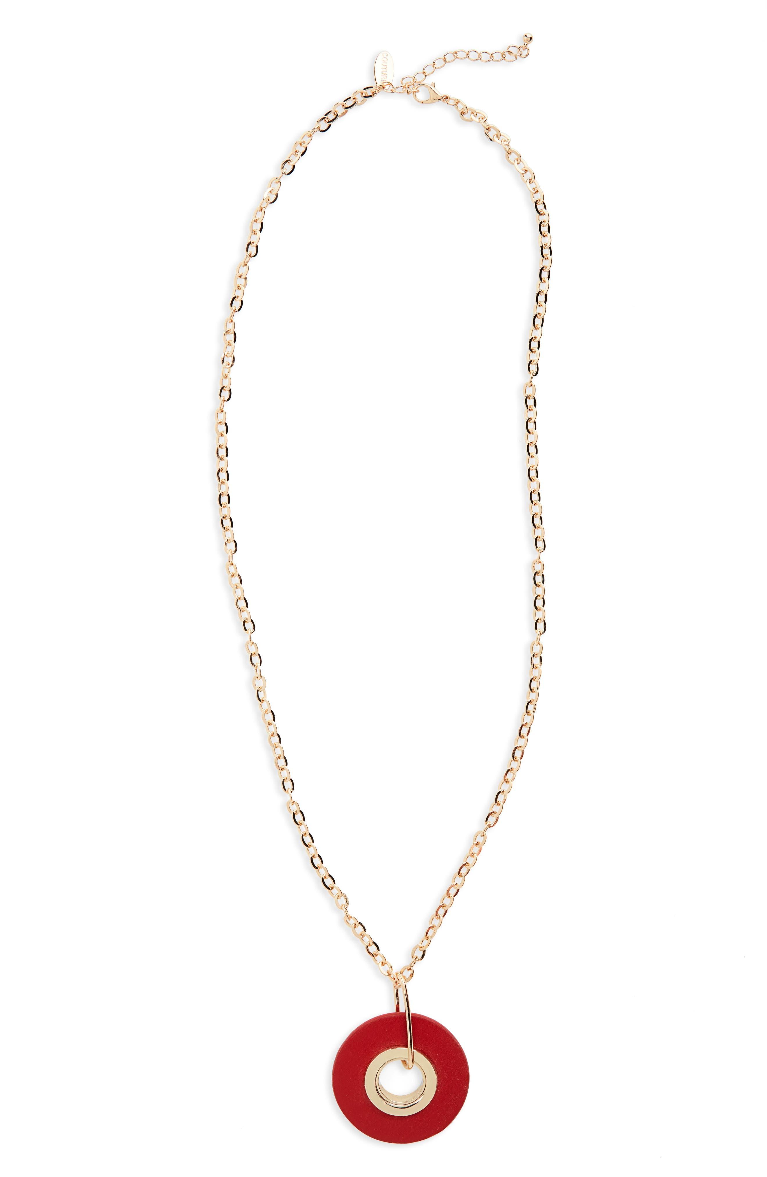 Natasha Circle Pendant Necklace