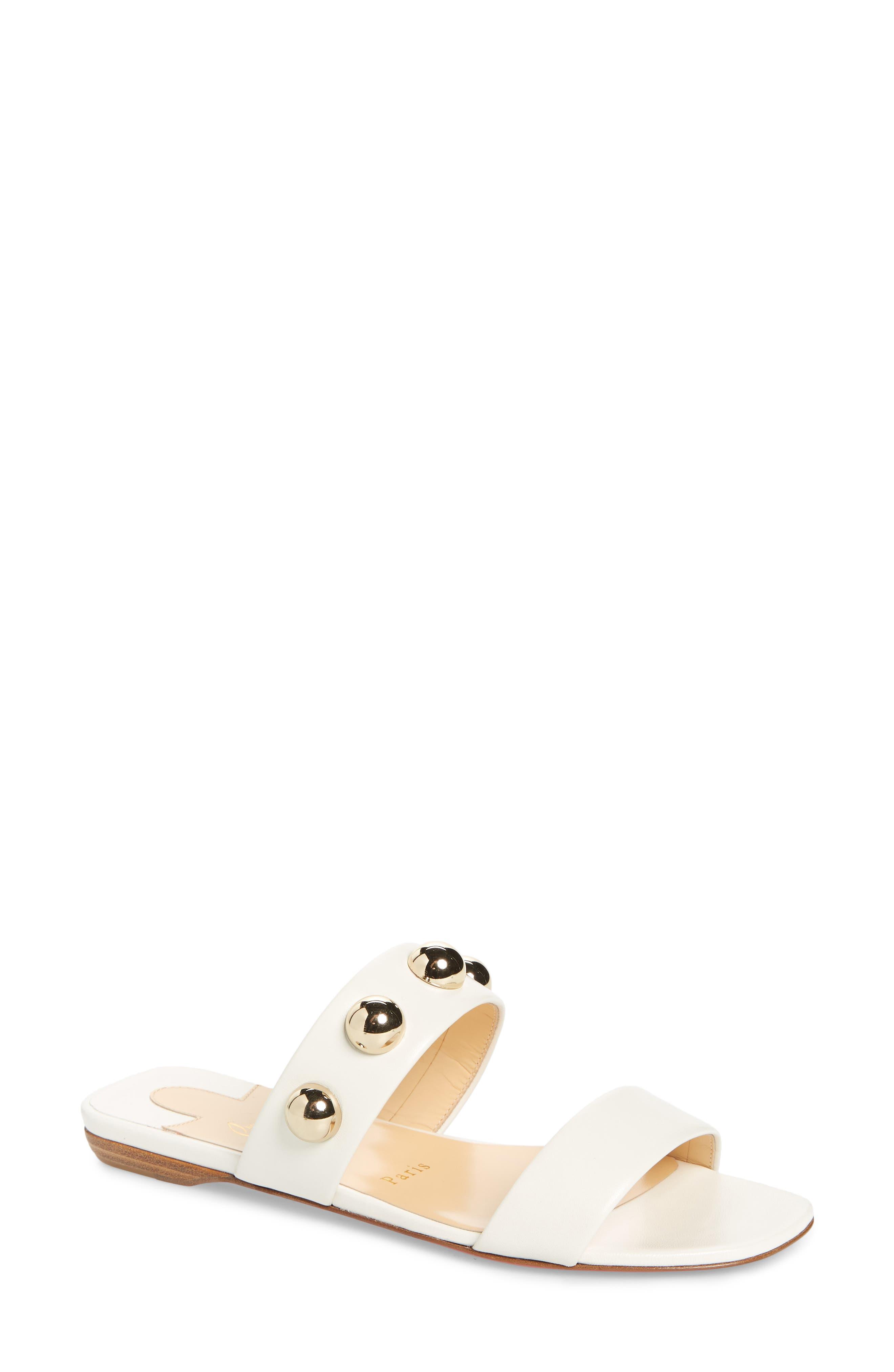 Christian Louboutin Simple Bille Ornament Slide Sandal (Women)