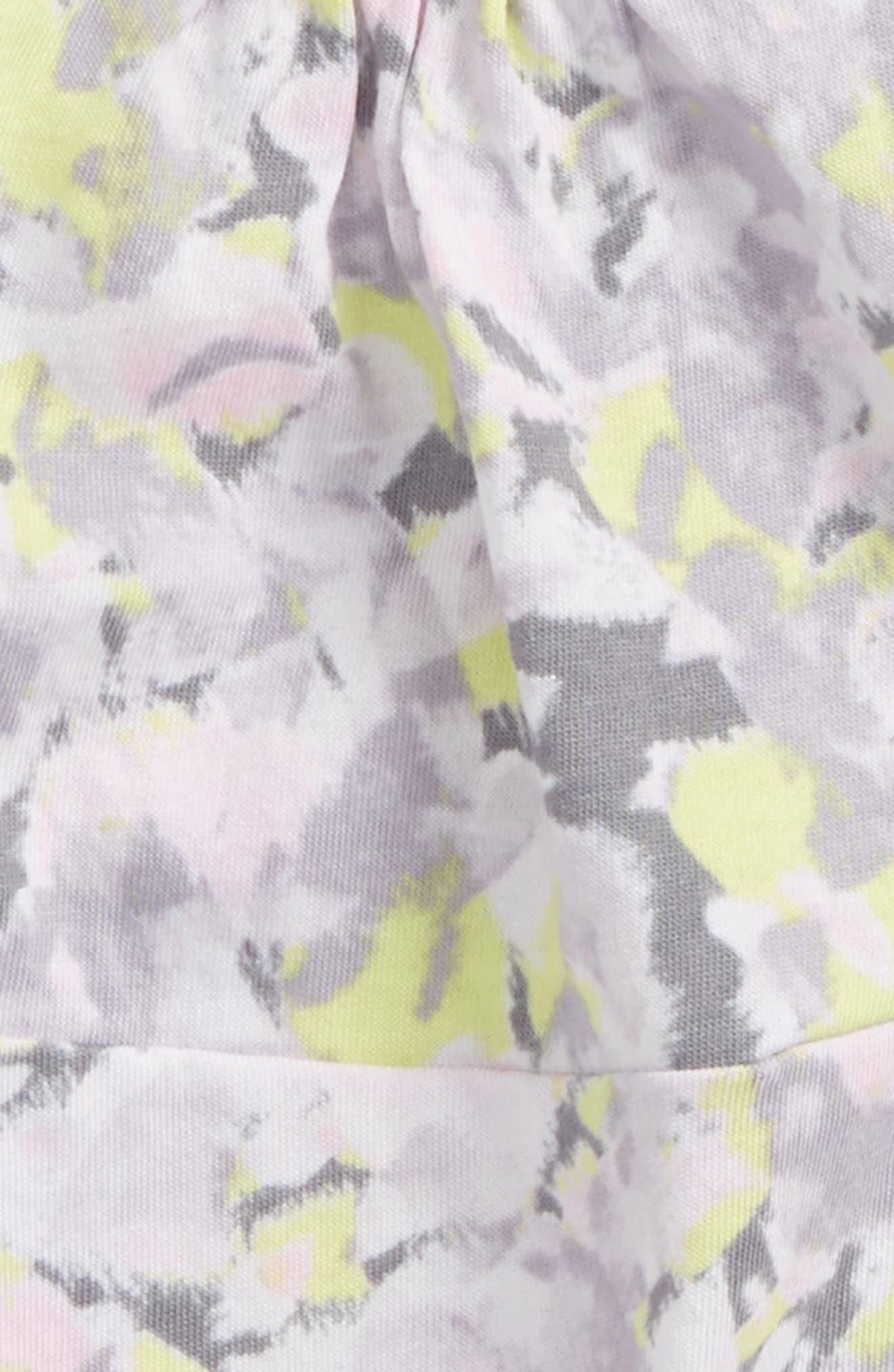 Allover Print Dress,                             Alternate thumbnail 2, color,                             Light Grey