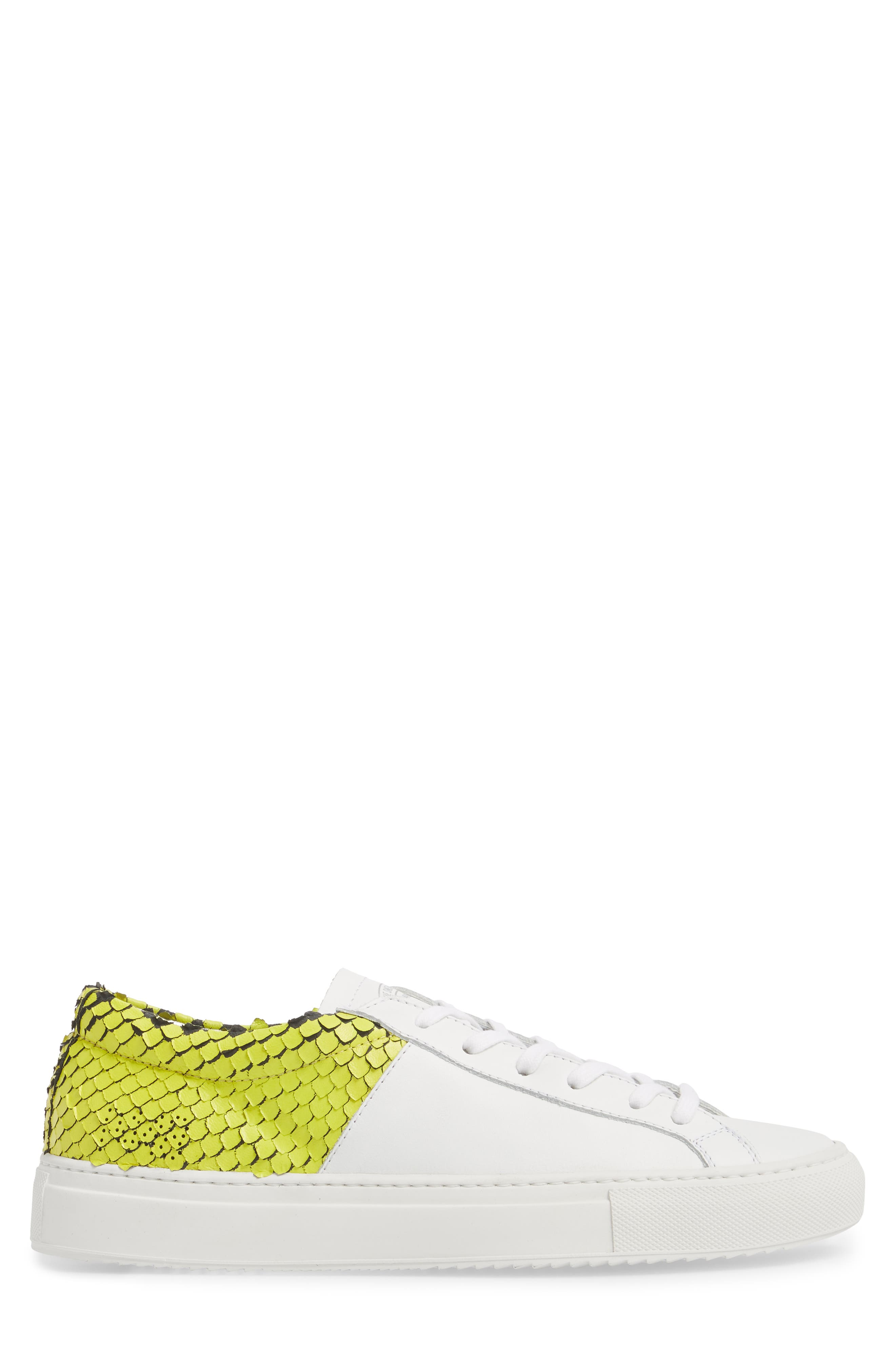 Onec Textured Low Top Sneaker,                             Alternate thumbnail 3, color,                             Python White