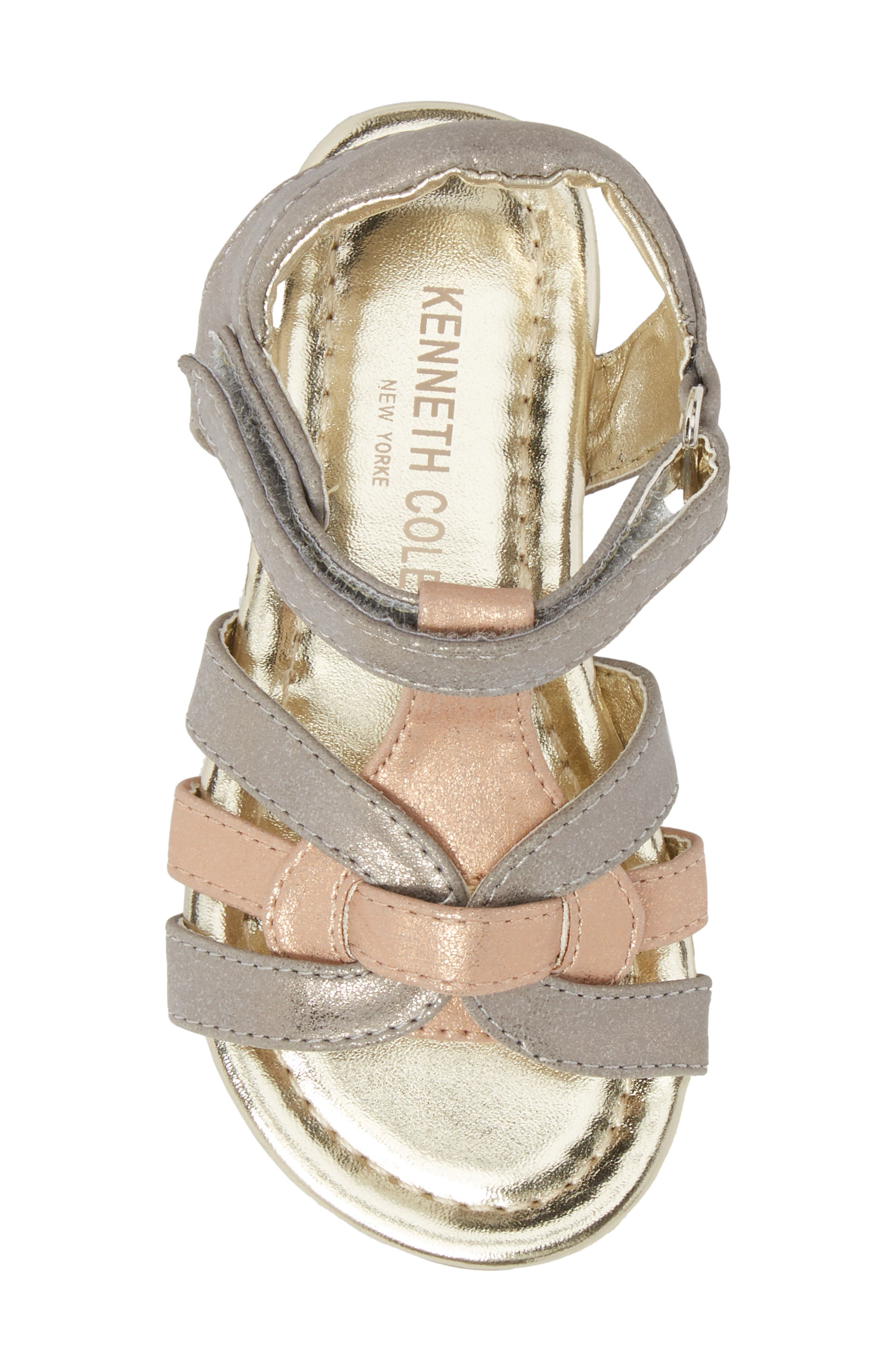 Echo Strappy Sandal,                             Alternate thumbnail 5, color,                             Rose Metallic