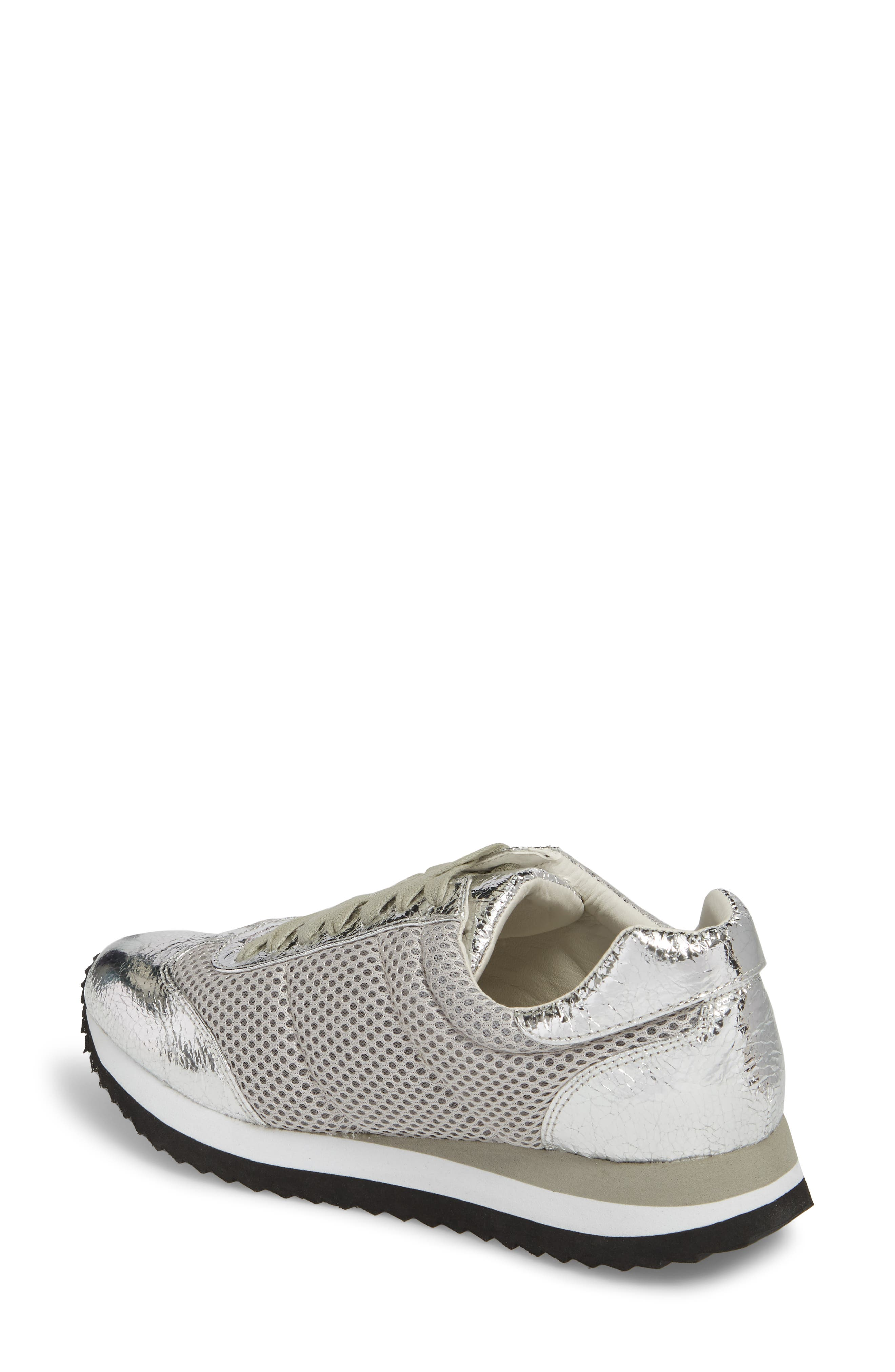 Jaclyn Mesh Sneaker,                             Alternate thumbnail 2, color,                             Silver