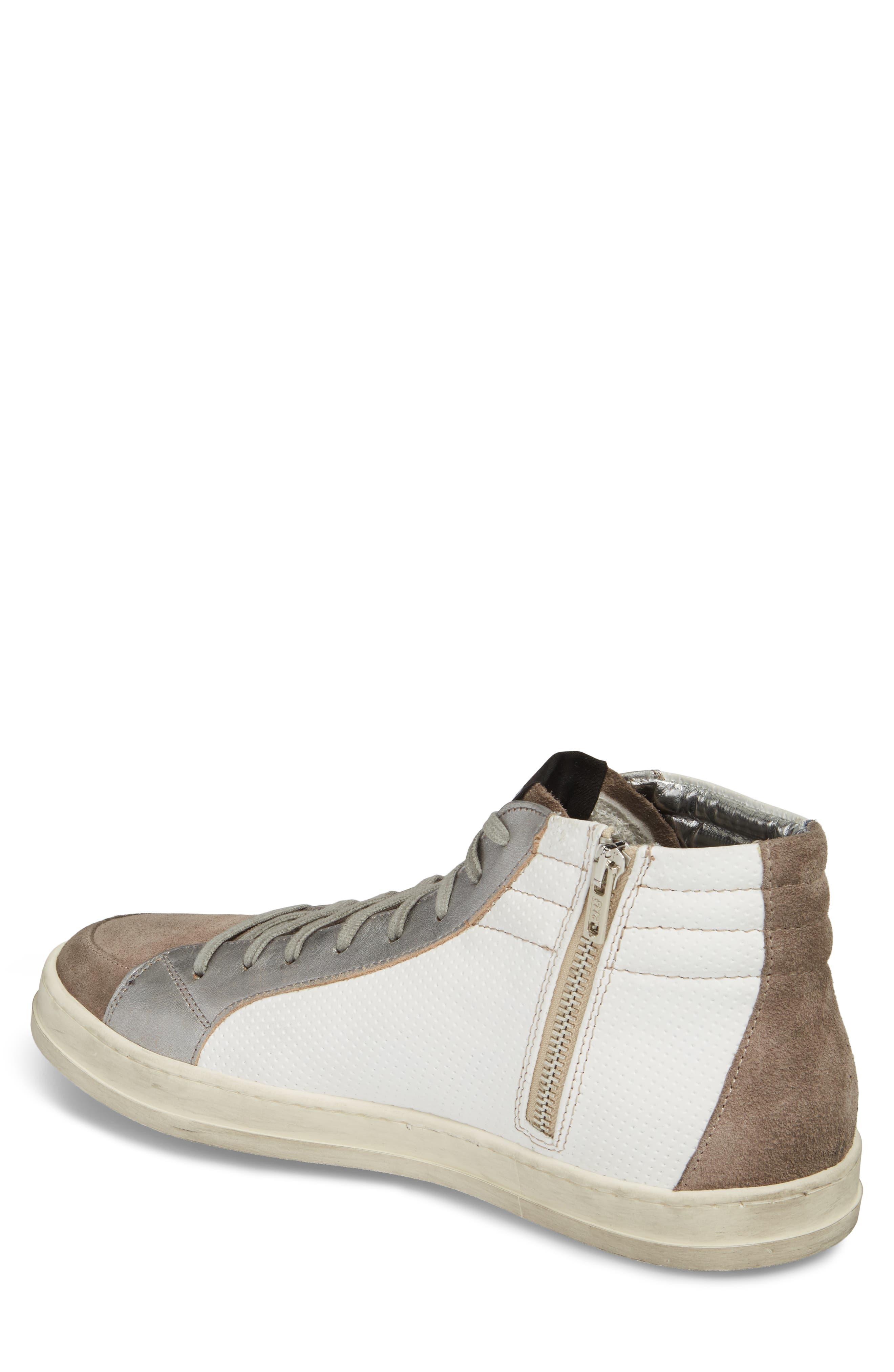 Skate High Top Sneaker,                             Alternate thumbnail 2, color,                             White