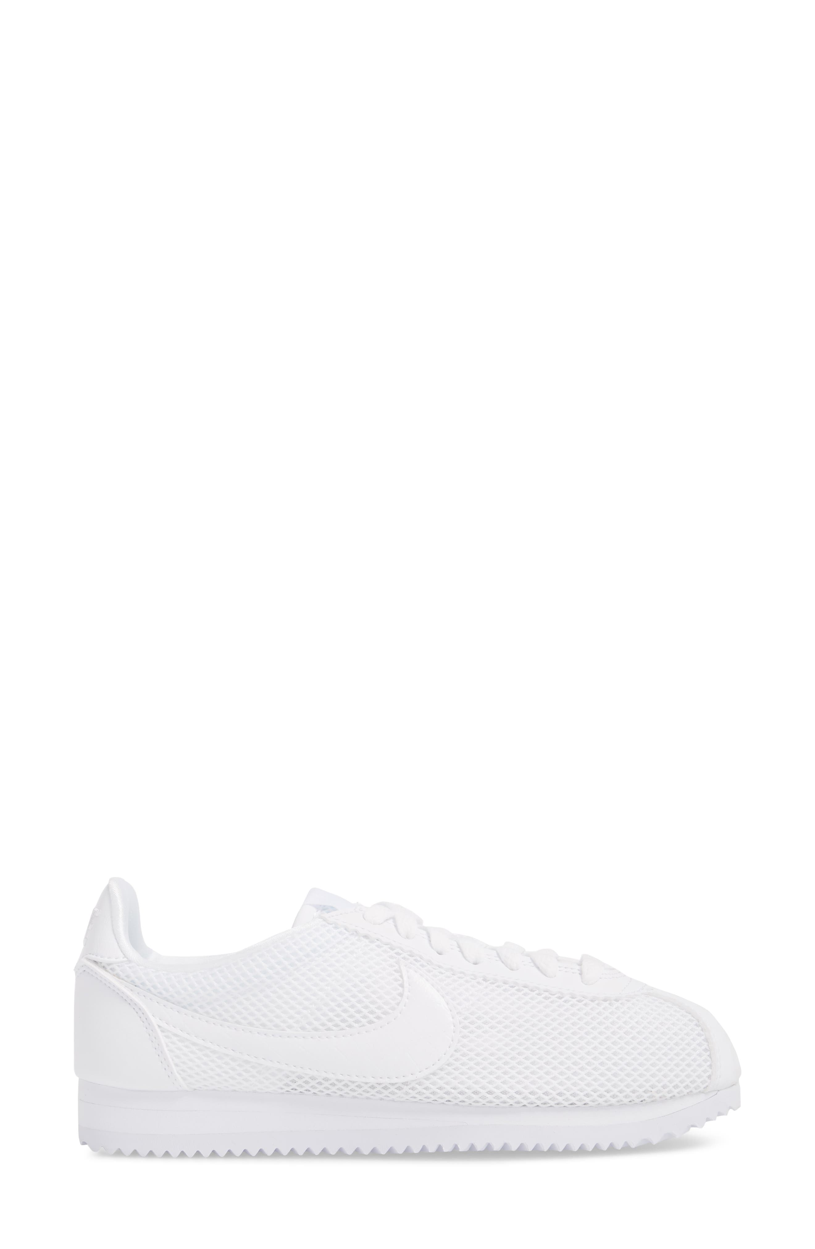 Classic Cortez Premium XLV Sneaker,                             Alternate thumbnail 3, color,                             White/ White