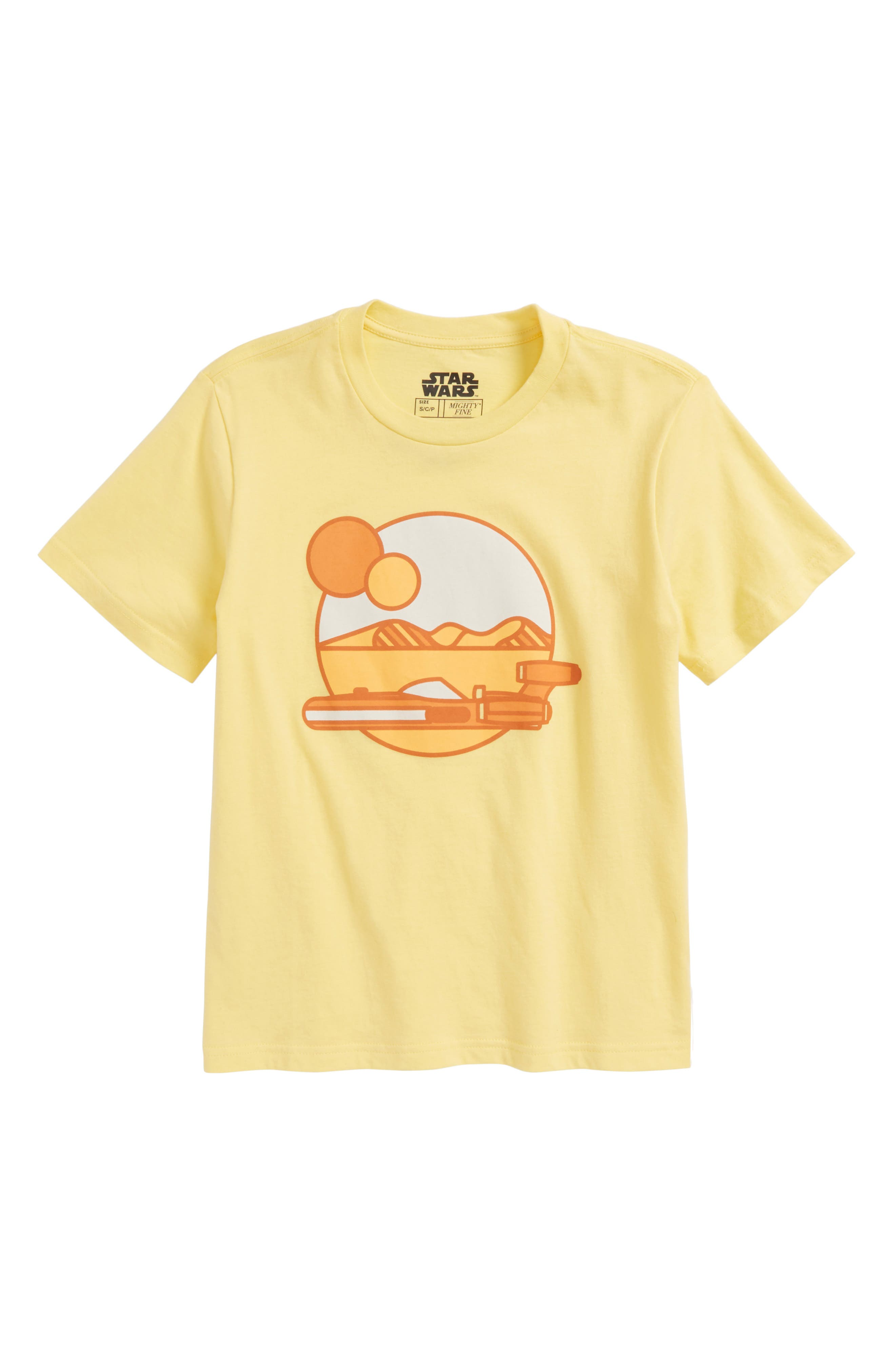 Star Wars<sup>™</sup> Tatooine Sunset Graphic T-Shirt,                             Main thumbnail 1, color,                             Yellow