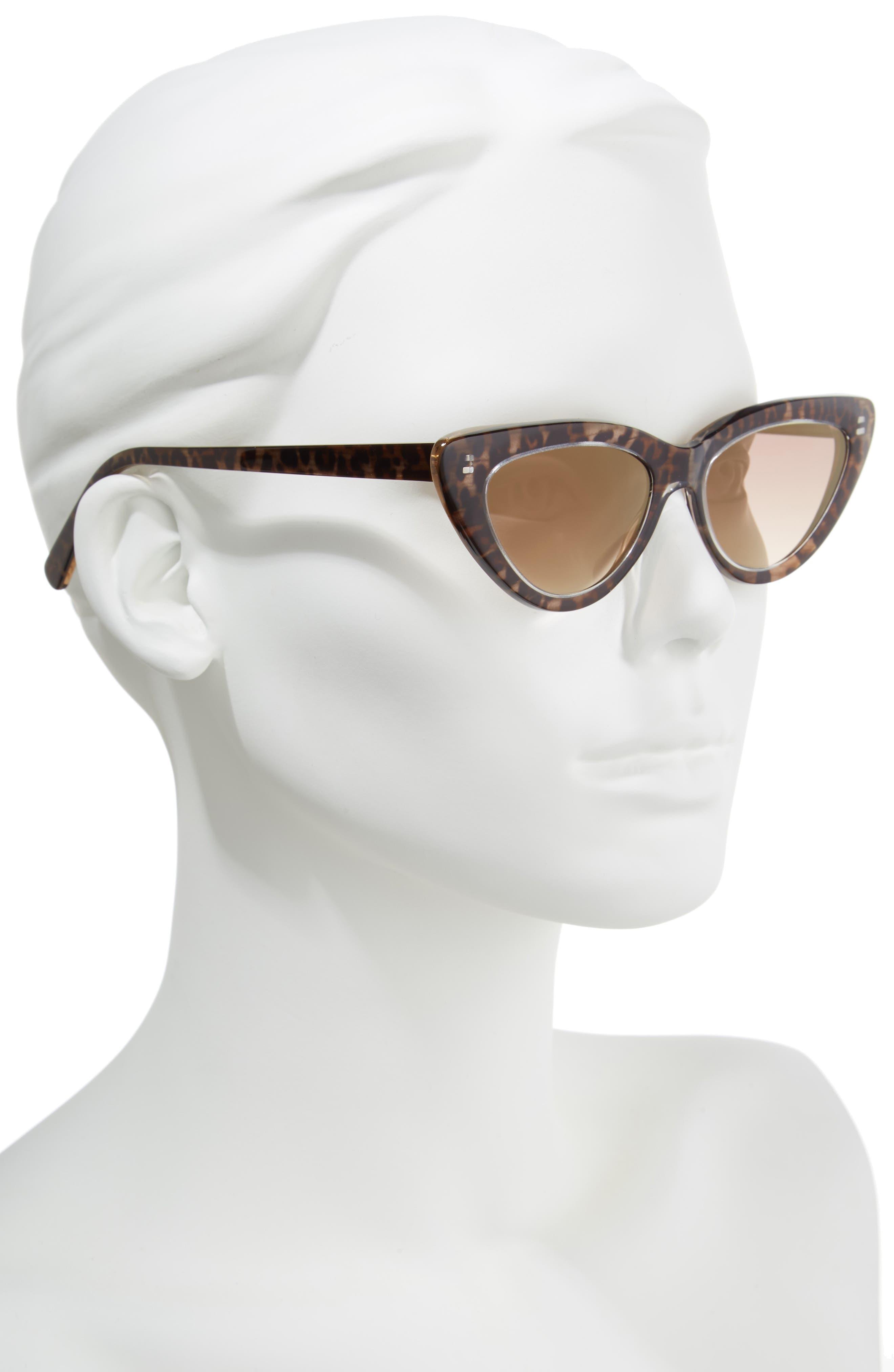D'BLANC A-Muse 52mm Sunglasses,                             Alternate thumbnail 2, color,                             Cheetah