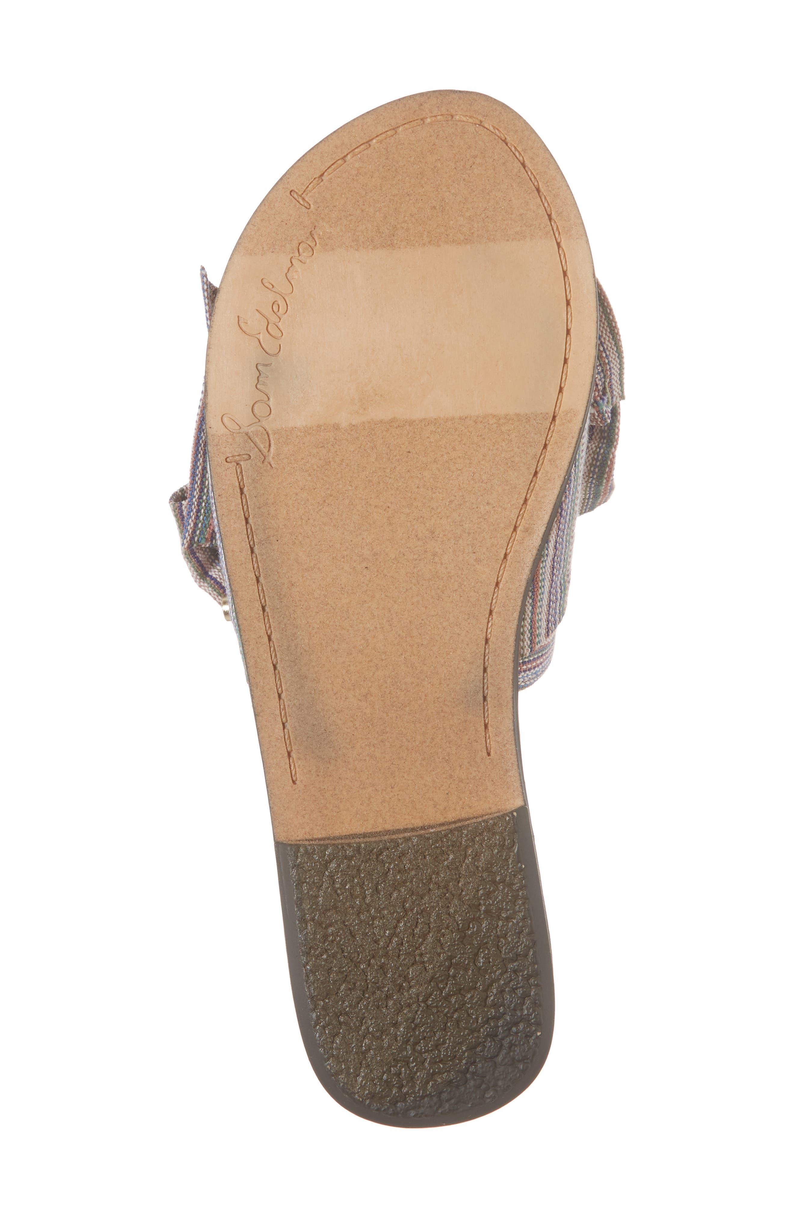 Gigi Bow Faux Leather Sandal,                             Alternate thumbnail 6, color,                             Tan Multi Fabric