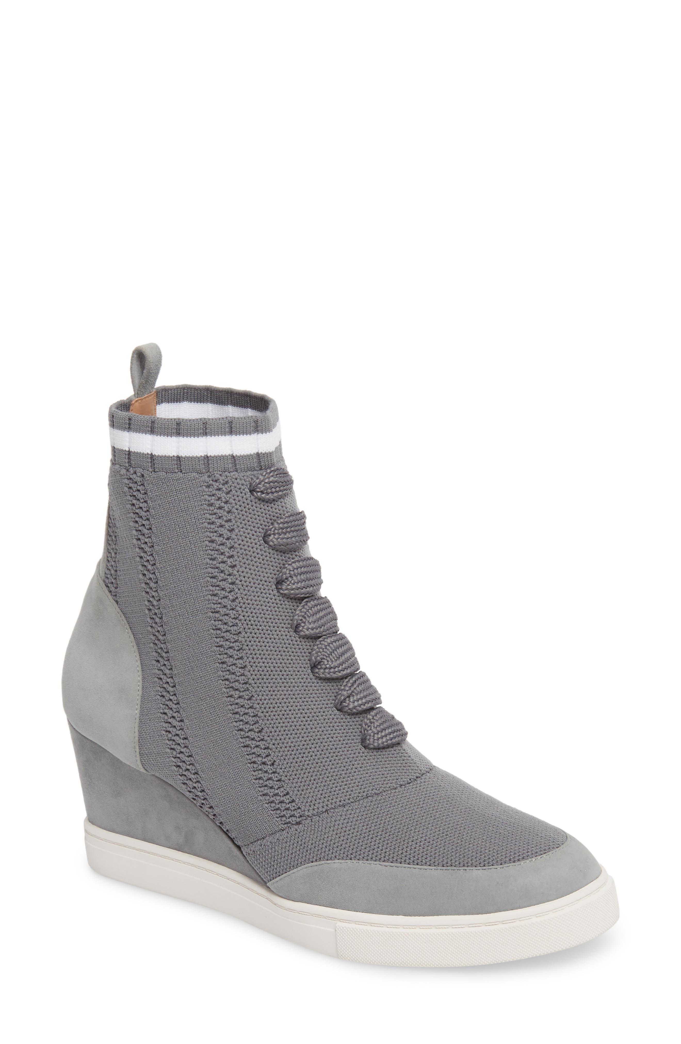 Linea Paolo Fabiana Wedge Sneaker (Women). GREY SUEDE; BLACK SUEDE