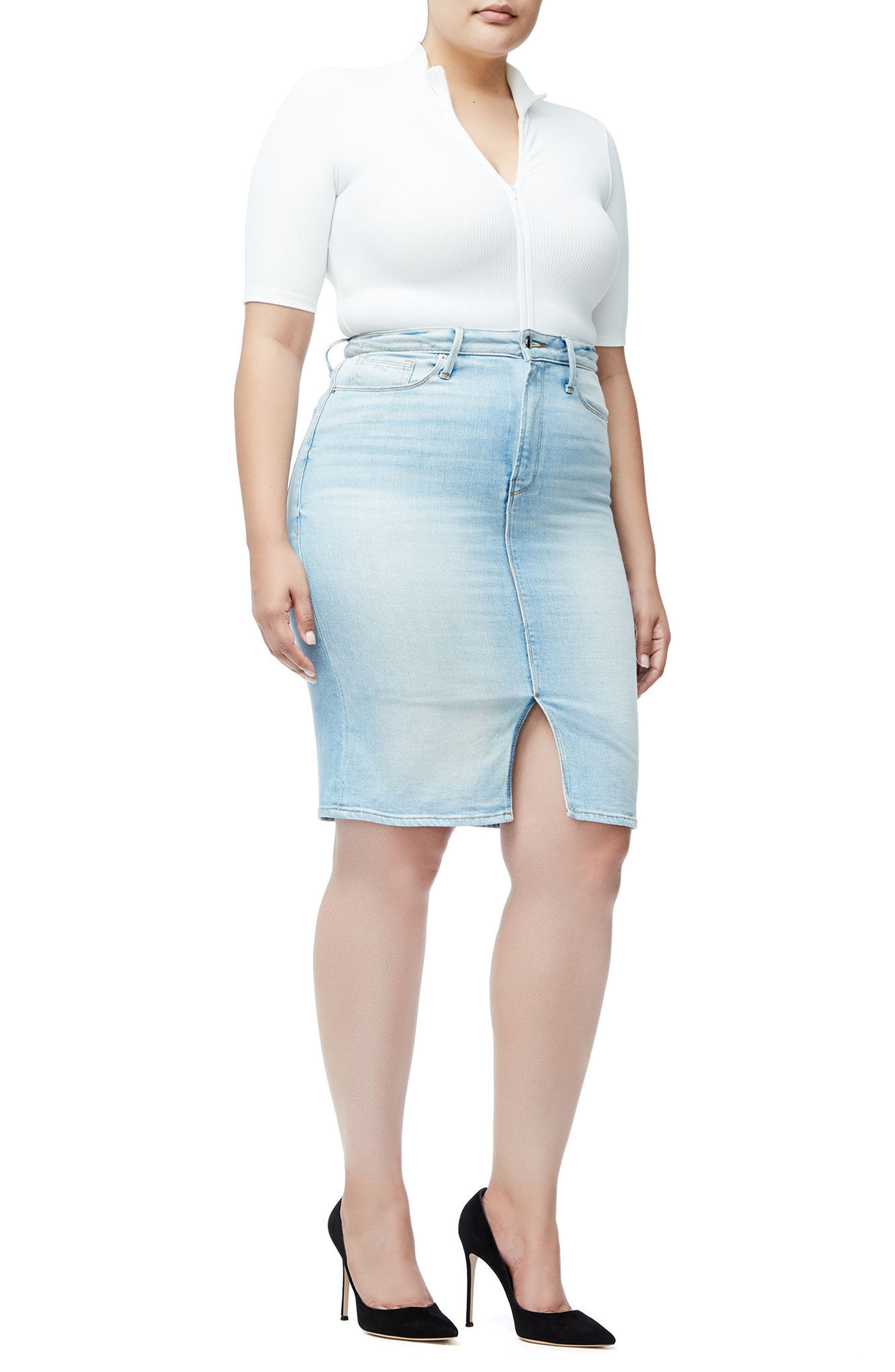 The Pencil Skirt,                             Alternate thumbnail 6, color,                             Blue146