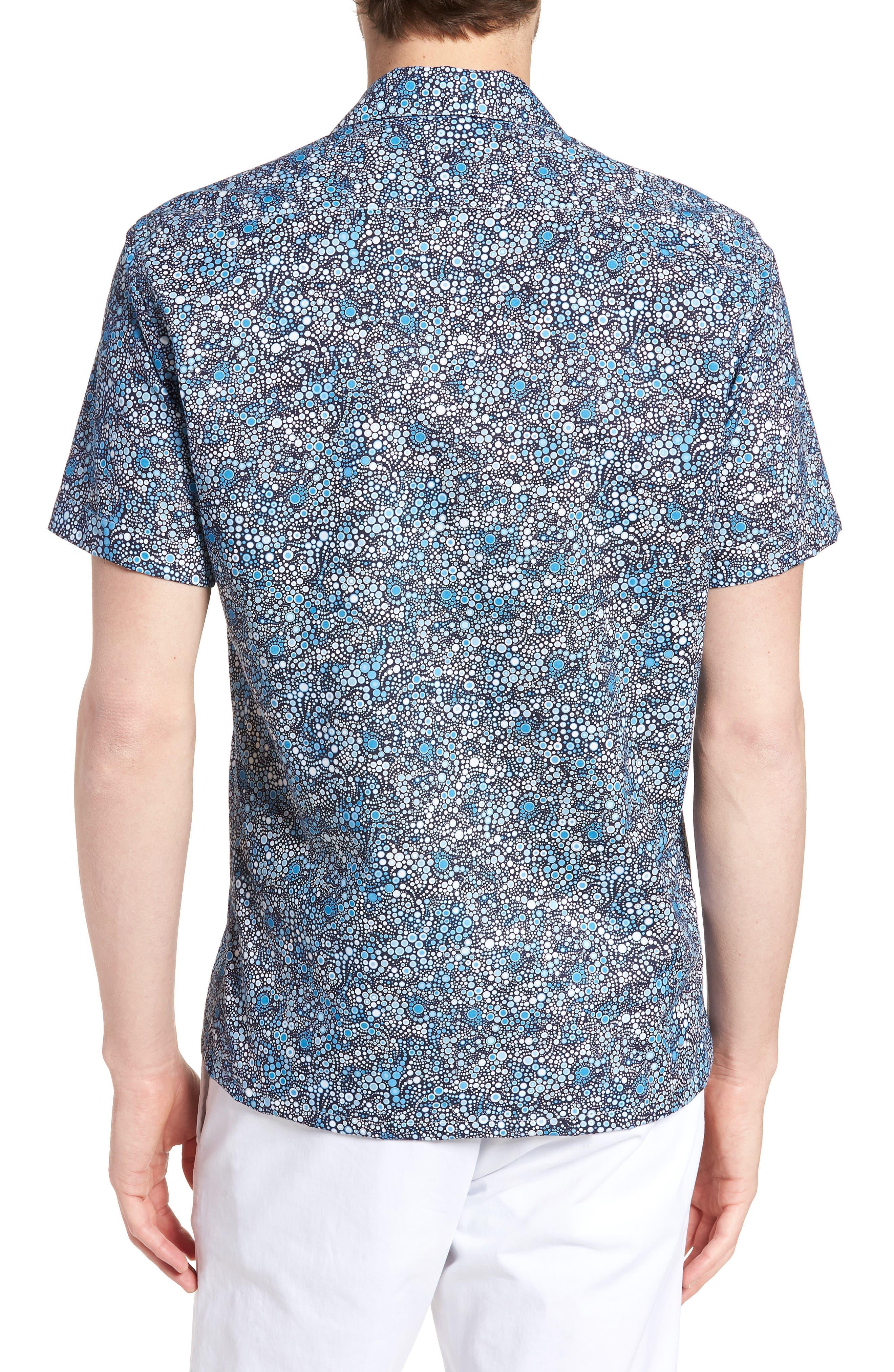 Laguna Novelty Trim Fit Sport Shirt,                             Alternate thumbnail 3, color,                             Blue