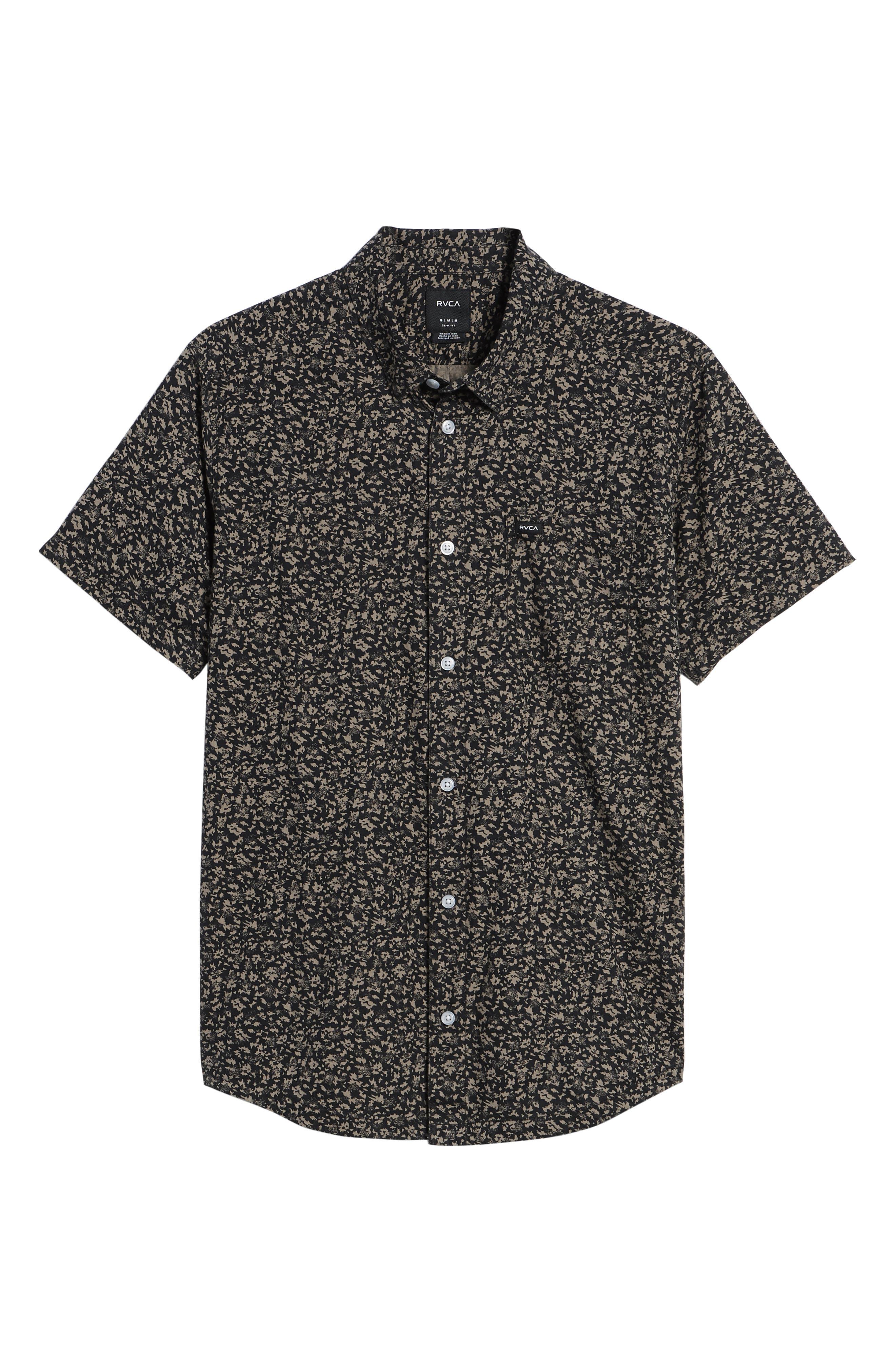 Dresden Woven Shirt,                             Alternate thumbnail 6, color,                             Pirate Black