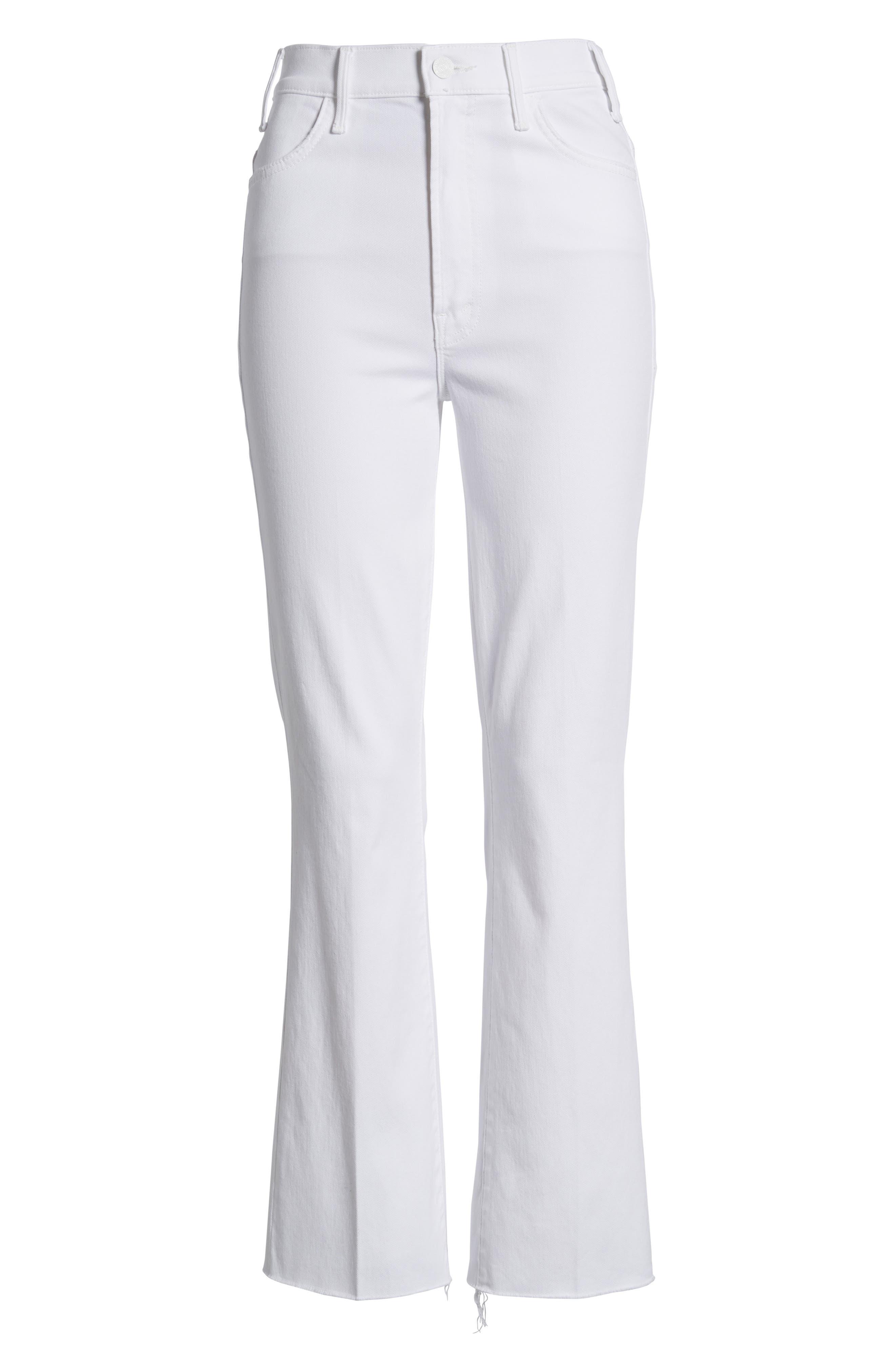 Alternate Image 6  - MOTHER The Hustler Fray Ankle Bootcut Jeans (Glass Slipper)