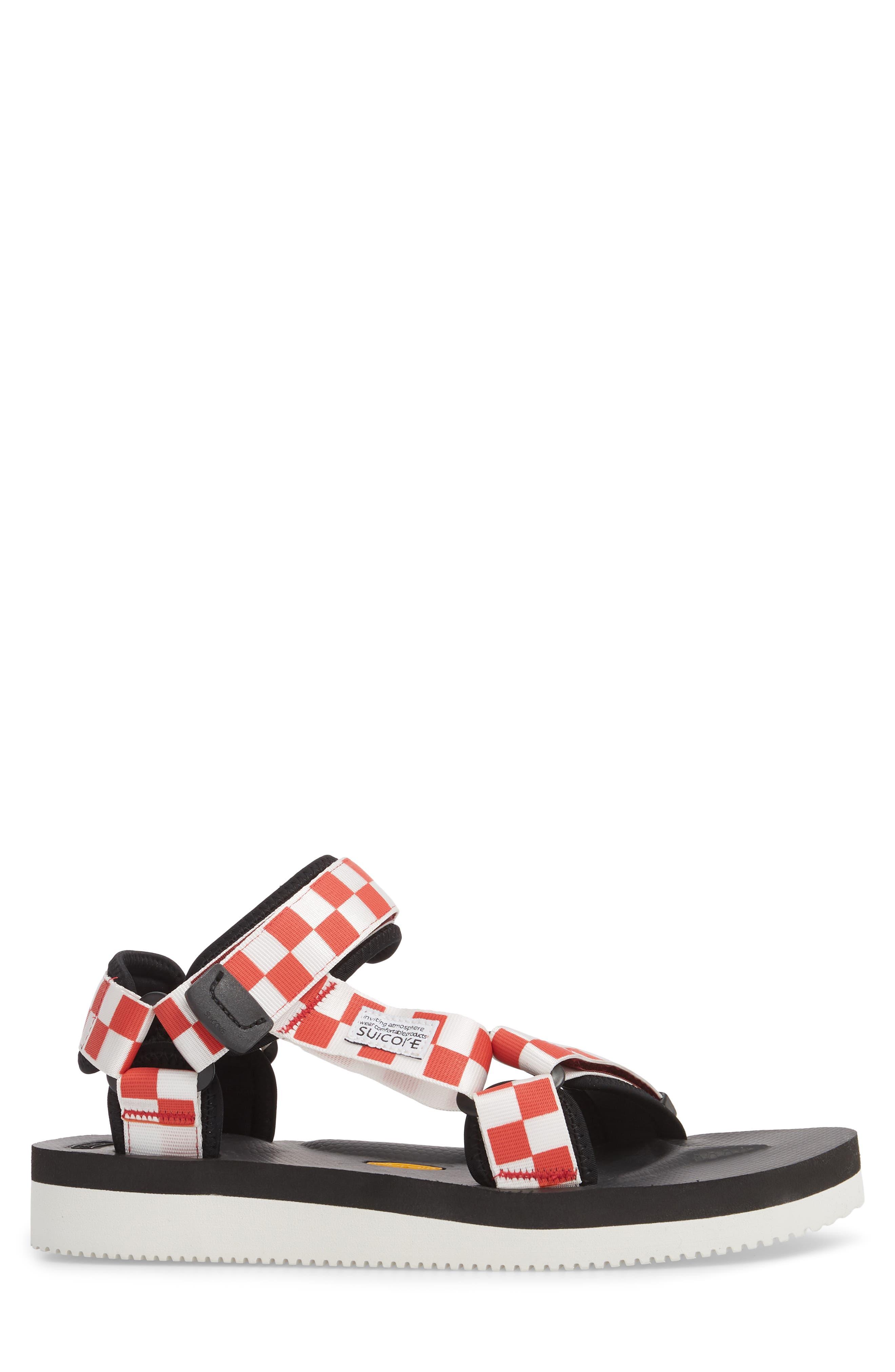 Depa Sport Sandal,                             Alternate thumbnail 3, color,                             Red