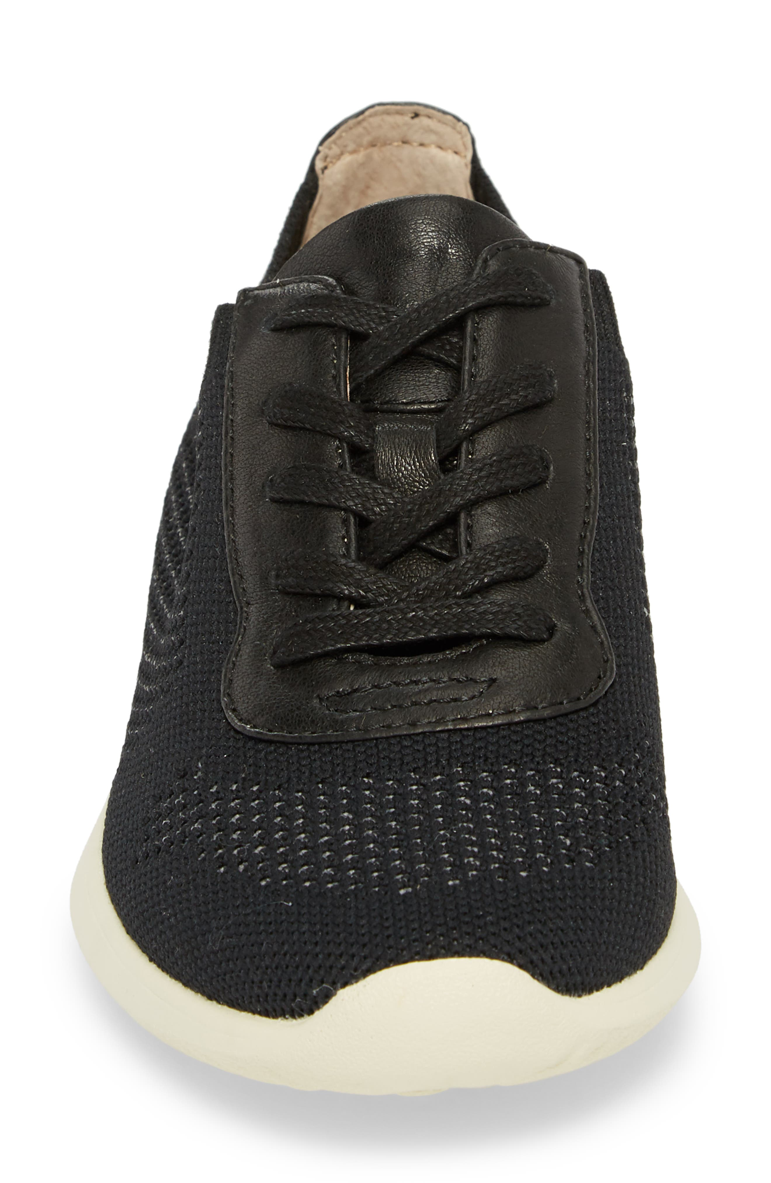 Novella Sneaker,                             Alternate thumbnail 4, color,                             Black Fabric