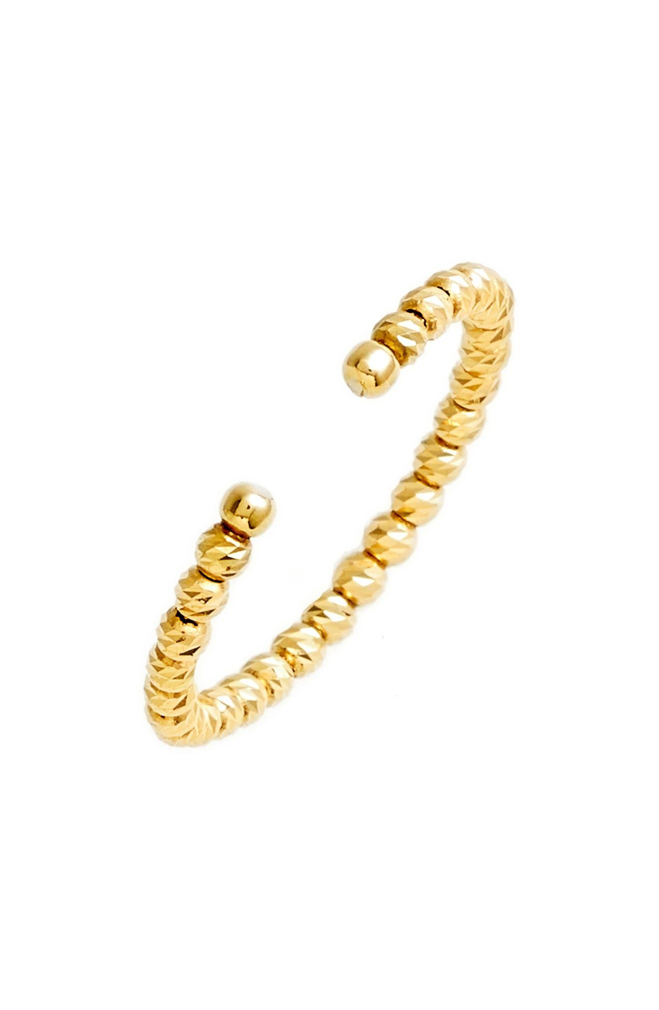 Poppy Finch Shimmer Open Stack 18K Gold Ring