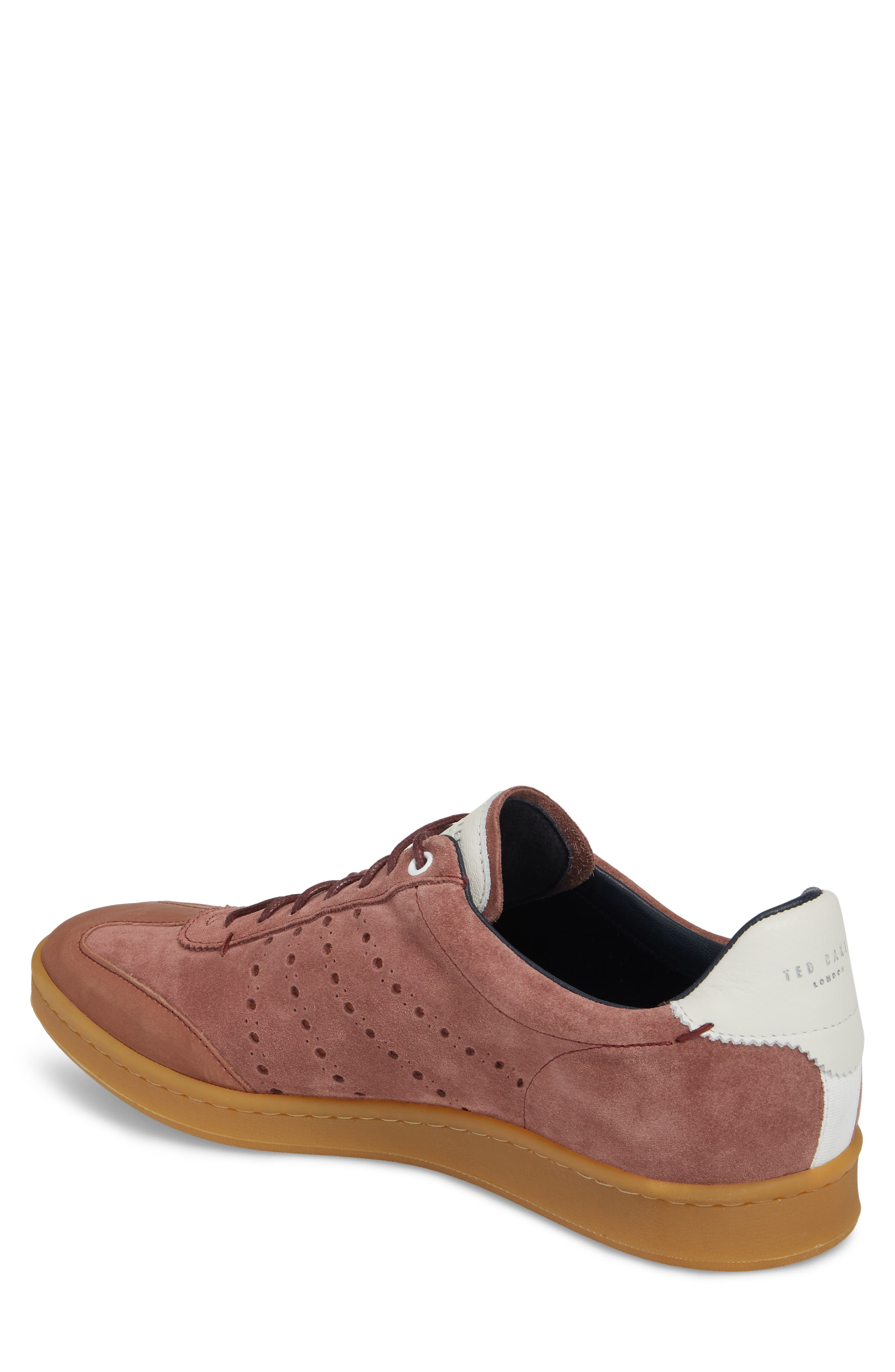 Orlees Low Top Sneaker,                             Alternate thumbnail 2, color,                             Pink Leather/ Suede
