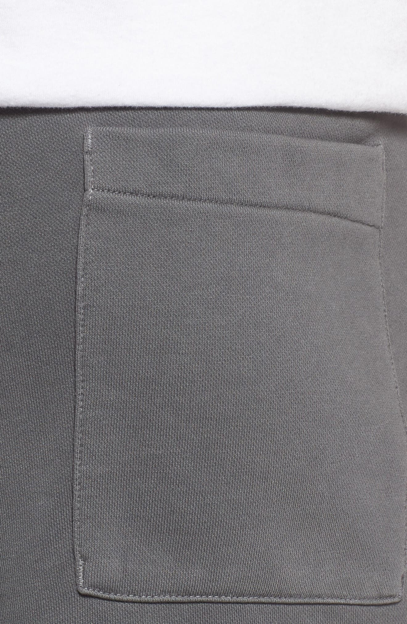NSW Cotton Blend Shorts,                             Alternate thumbnail 4, color,                             Black/ Anthracite/ Cool Grey
