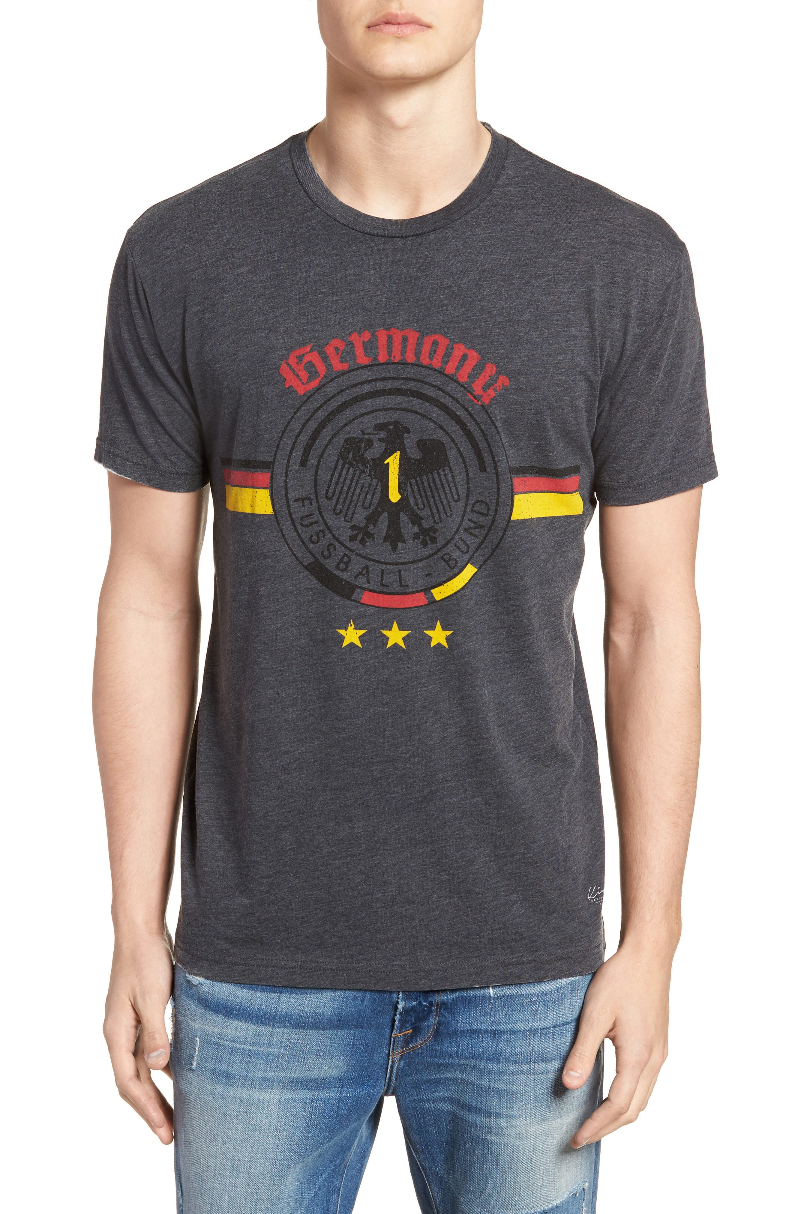 Germany Jersey T-Shirt,                         Main,                         color, Charcoal