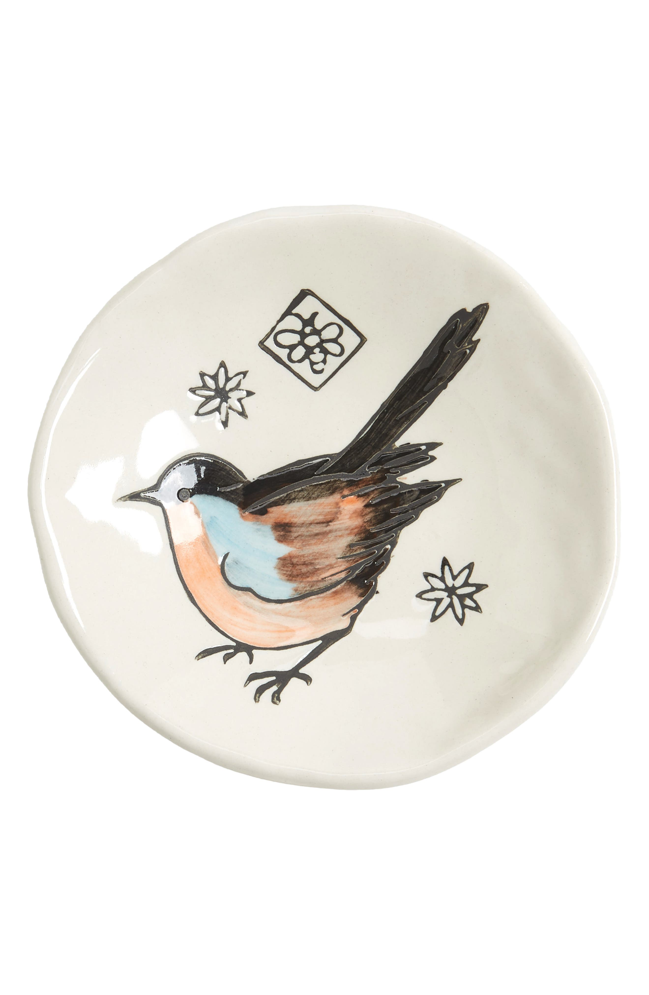 Small Bird Plate,                             Main thumbnail 1, color,                             White