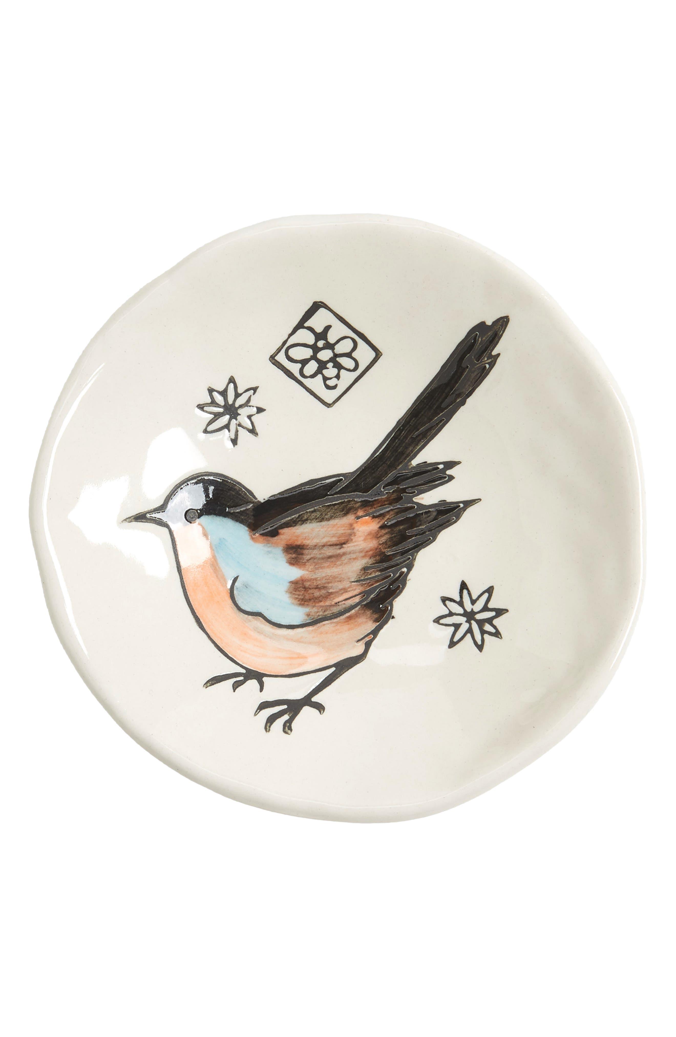 Creative Co-Op Small Bird Plate