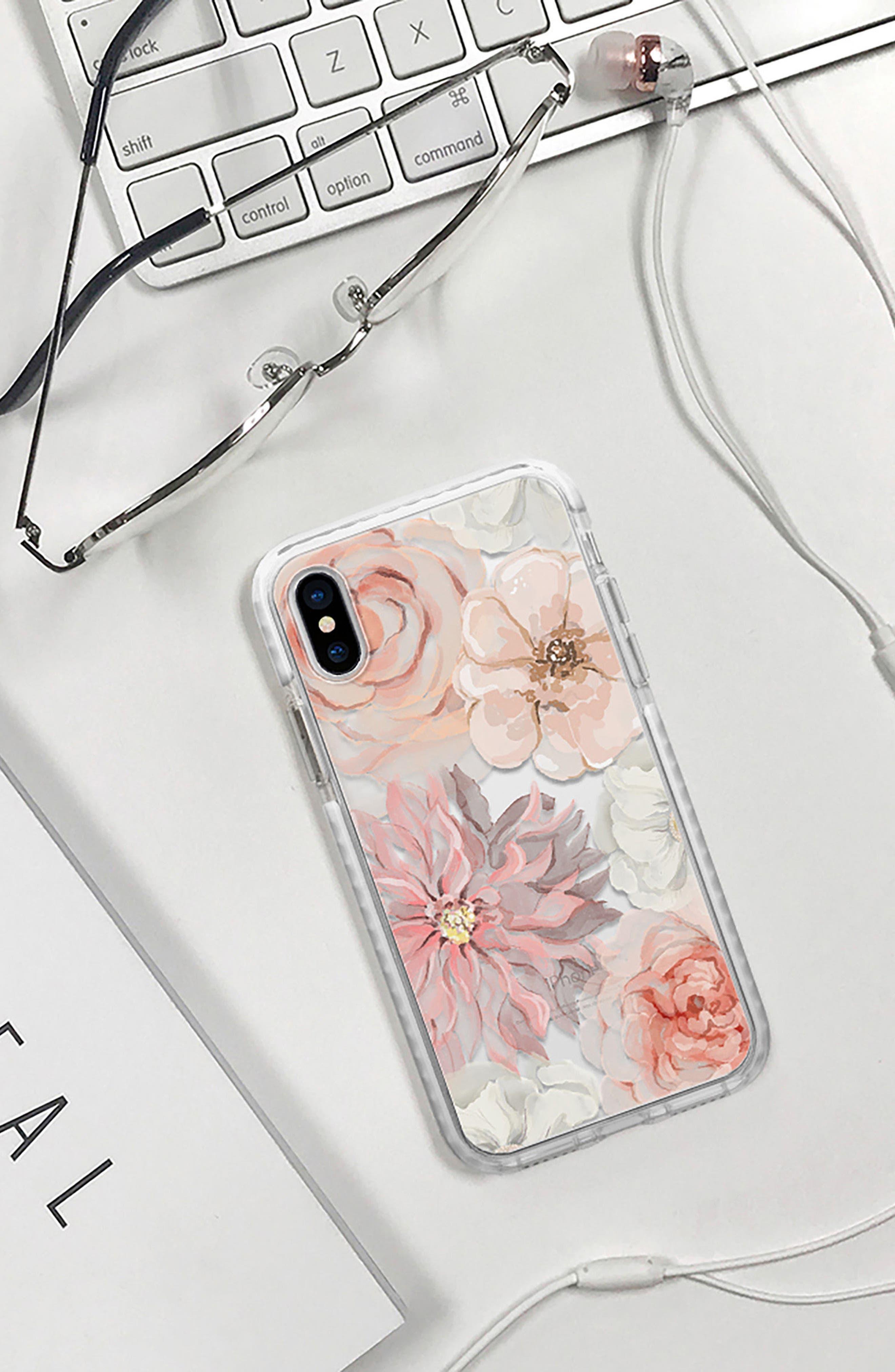 Pretty Blush iPhone X Case,                             Alternate thumbnail 5, color,