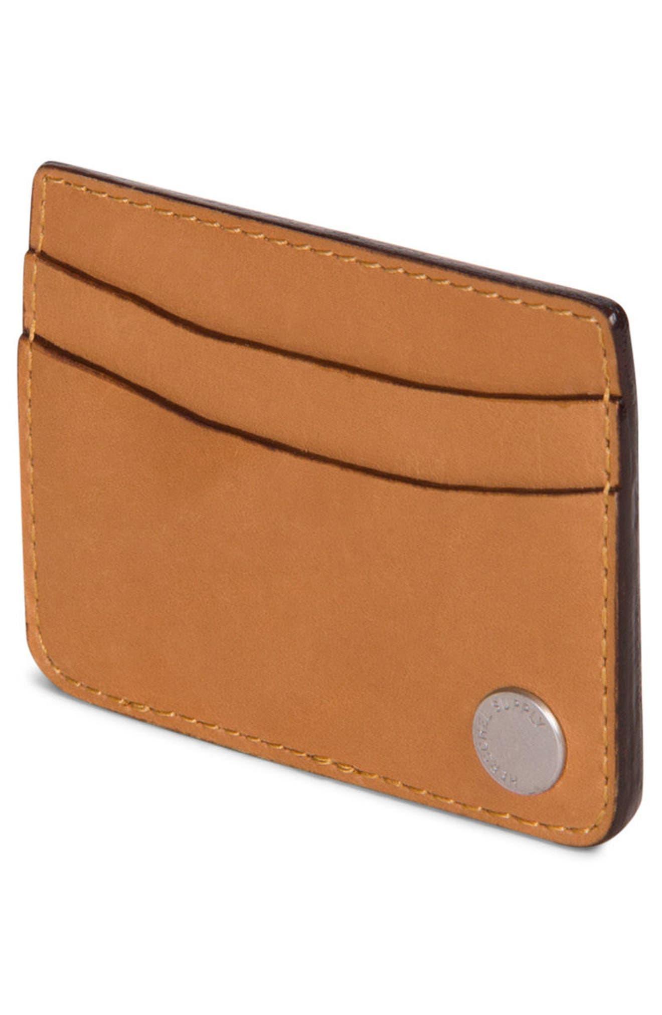 Ace Leather Card Case,                             Alternate thumbnail 2, color,                             Tan