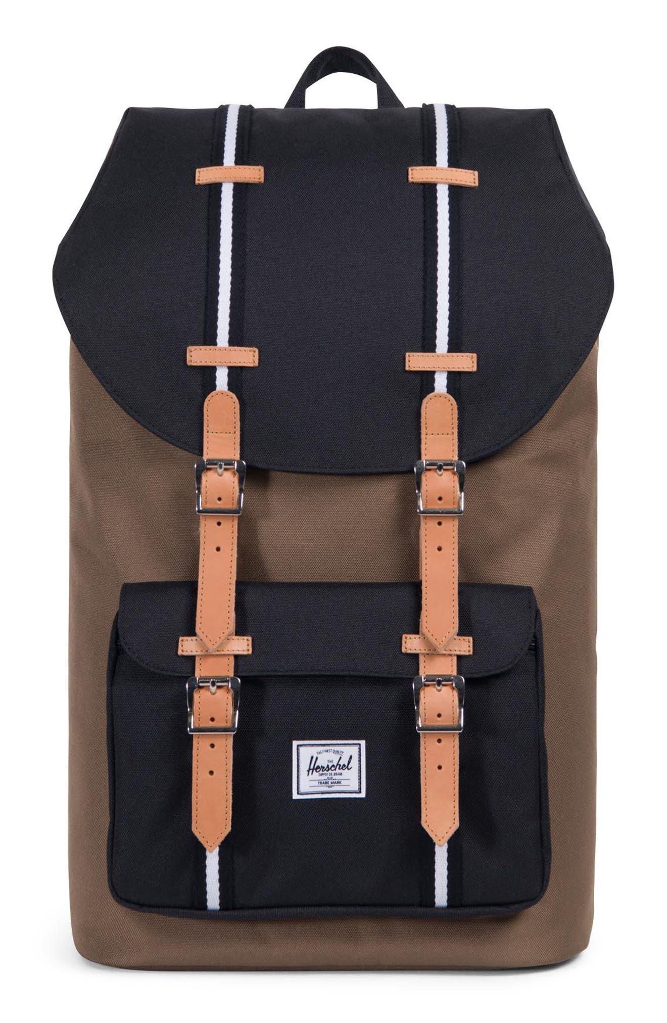 Little America Offset Stripe Backpack,                             Main thumbnail 1, color,                             Cub/ Black/ White