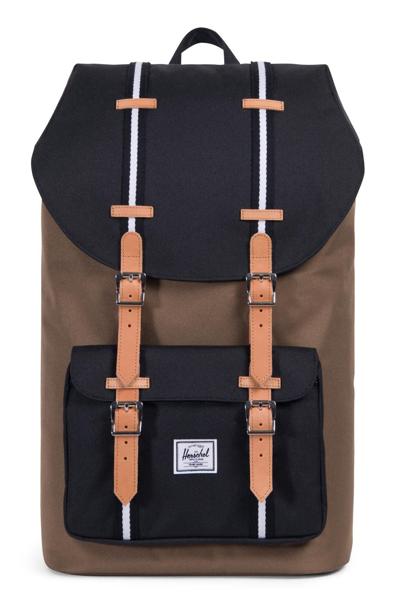 Little America Offset Stripe Backpack,                         Main,                         color, Cub/ Black/ White