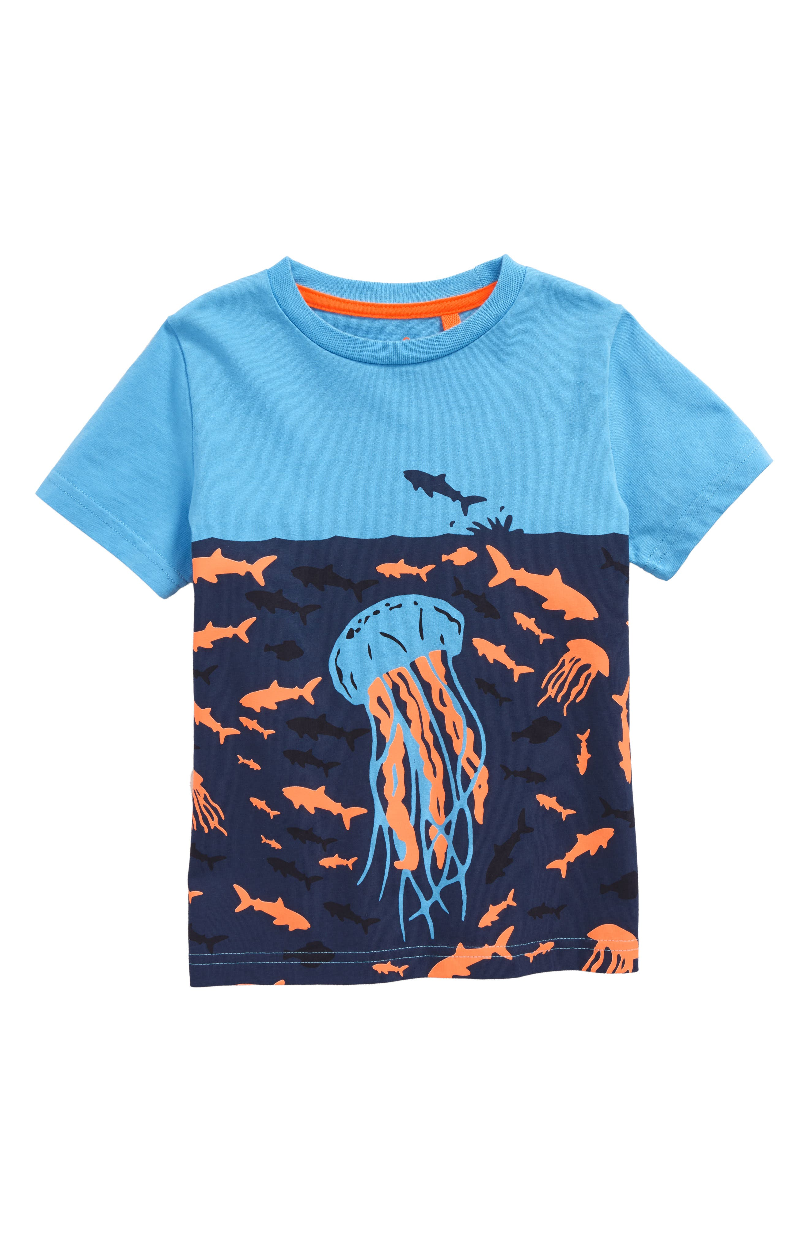 Mini Boden Underwater Screenprint T-Shirt (Toddler Boys, Little Boys & Big Boys)