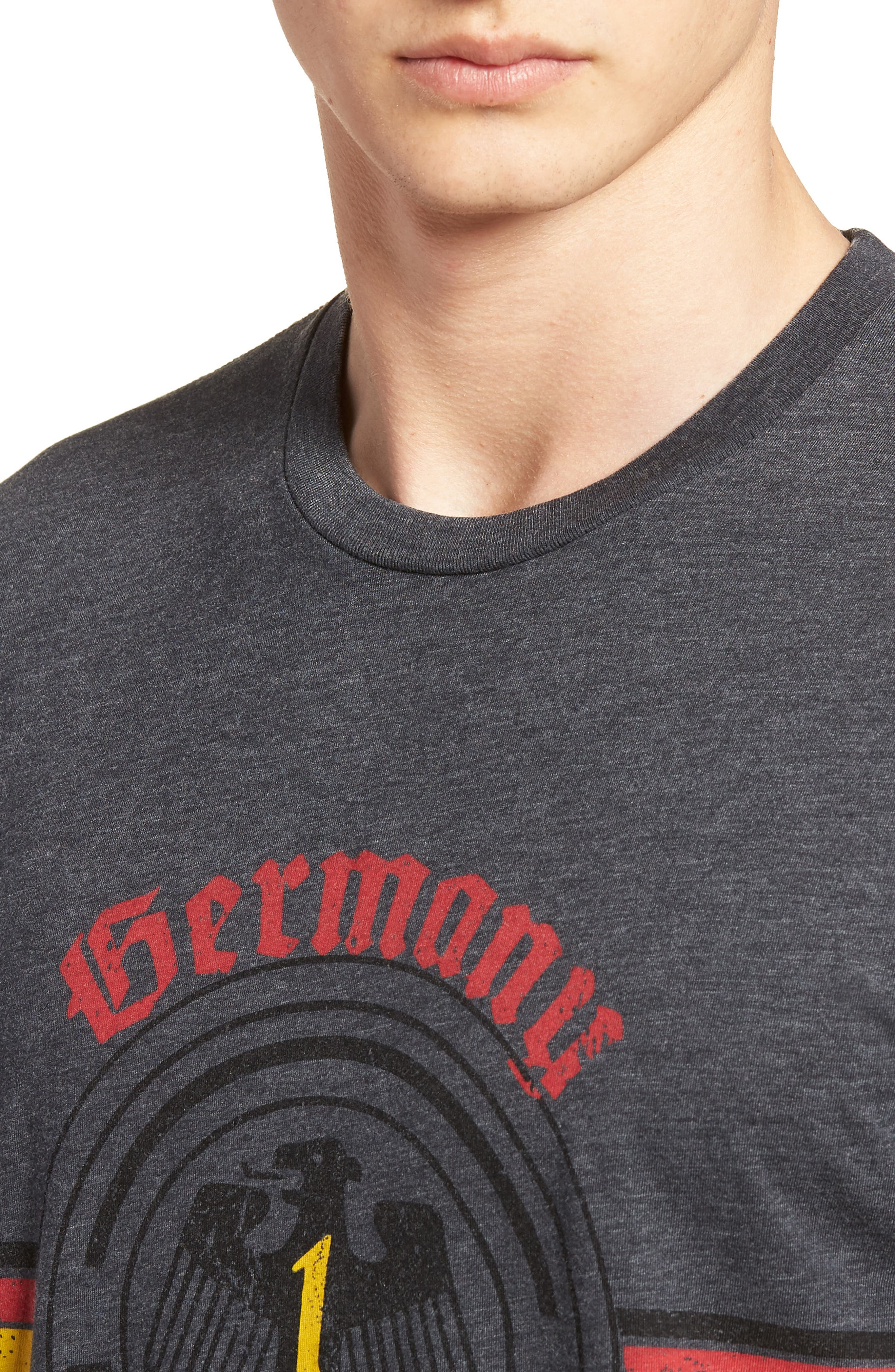 Germany Jersey T-Shirt,                             Alternate thumbnail 4, color,                             Charcoal