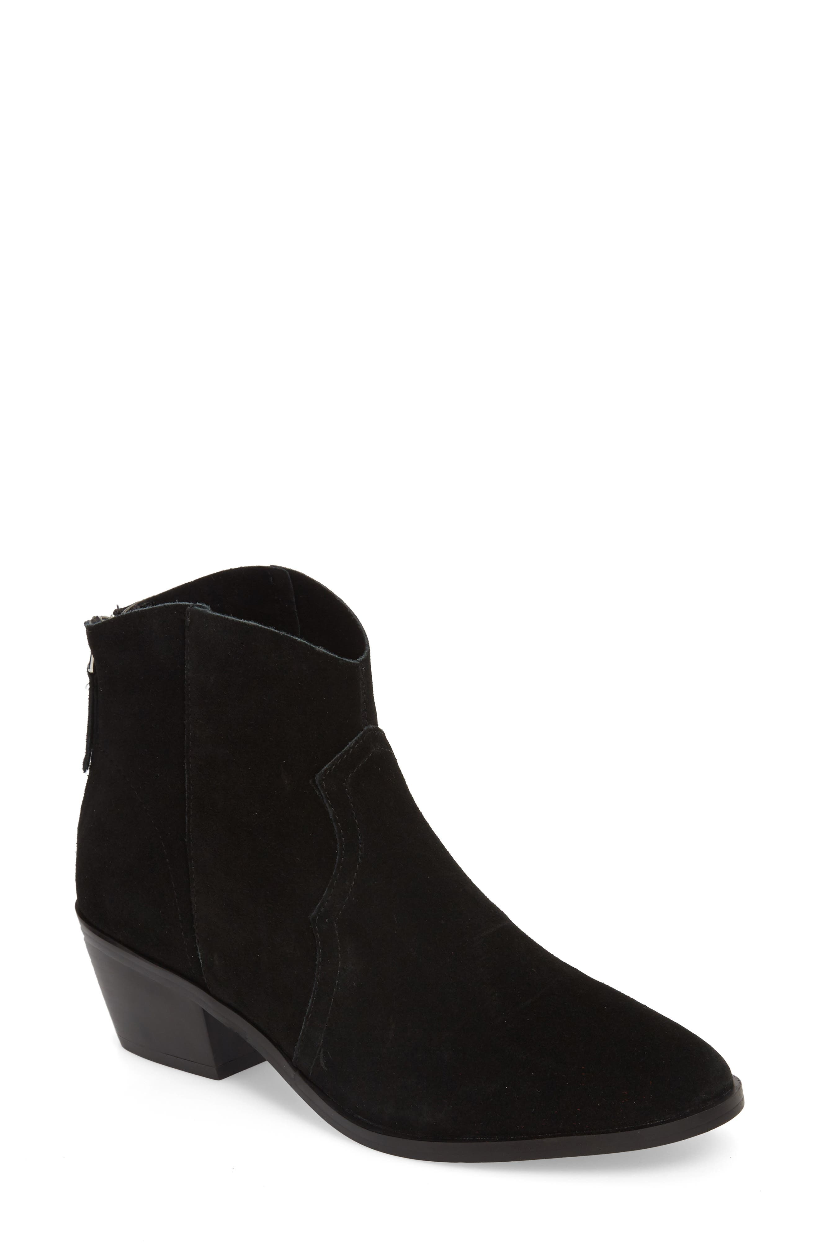 Betty Western Bootie,                             Main thumbnail 1, color,                             Black