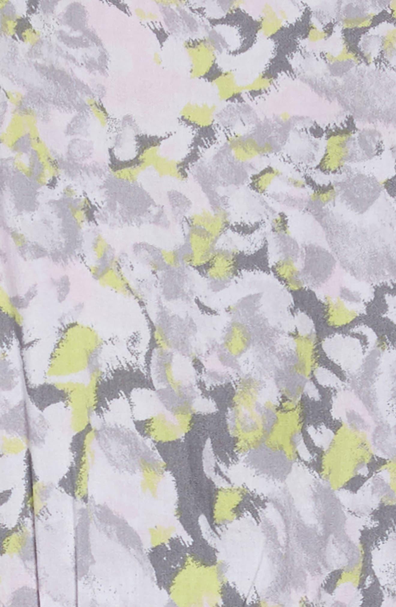 Print Cold Shoulder Dress,                             Alternate thumbnail 3, color,                             Light Grey