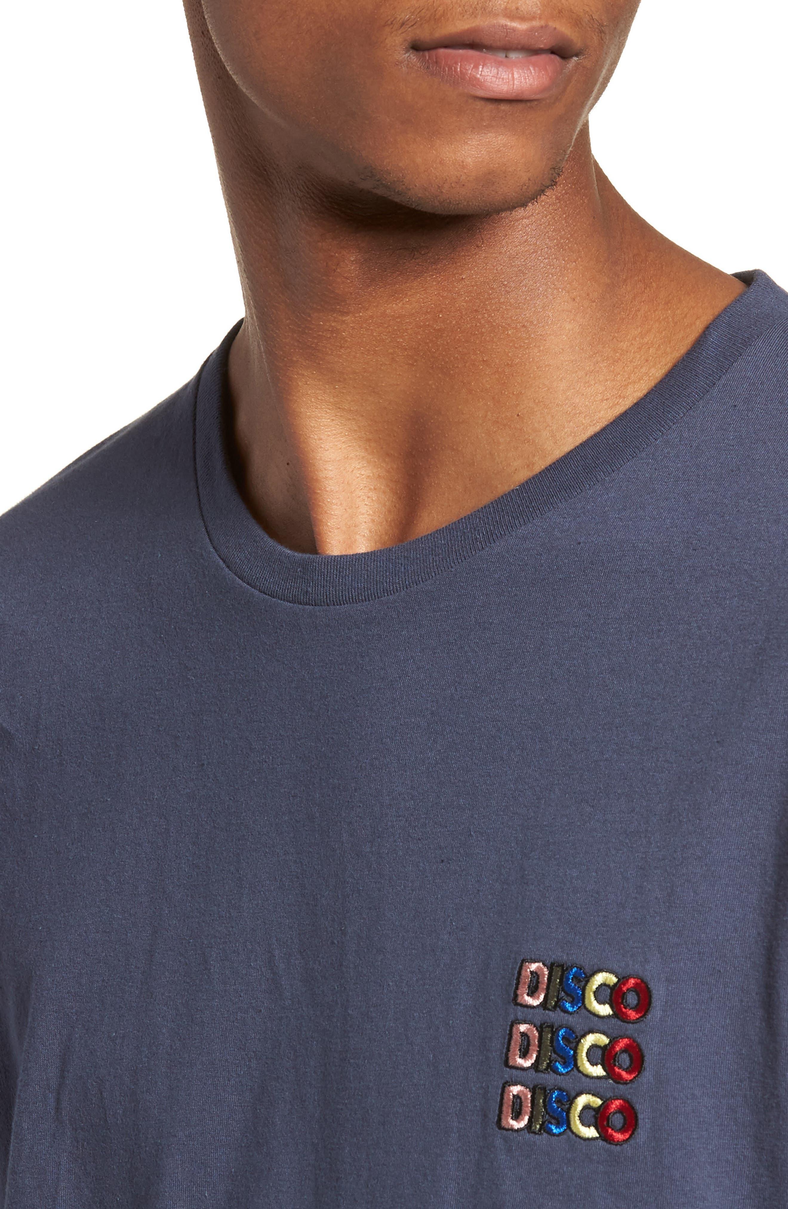 Disco T-Shirt,                             Alternate thumbnail 4, color,                             Slate