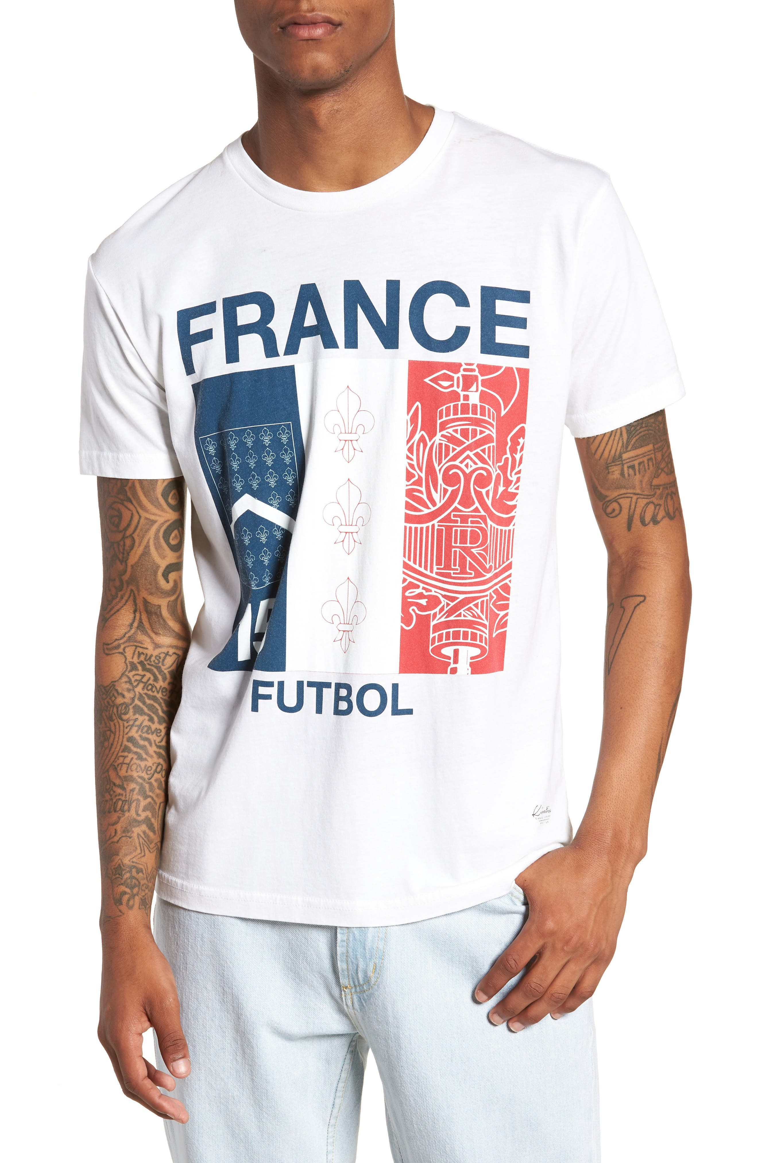 France Jersey T-Shirt,                         Main,                         color, White