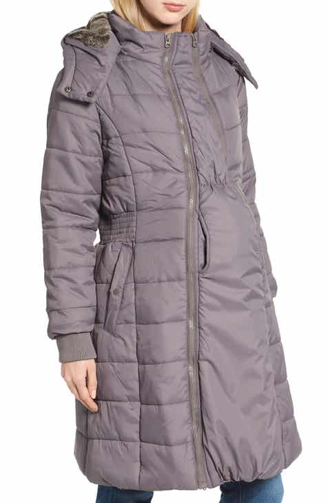 7d156f0596dec Modern Eternity Madison Quilted 3-in-1 Maternity Puffer Coat with Faux Fur  Trim