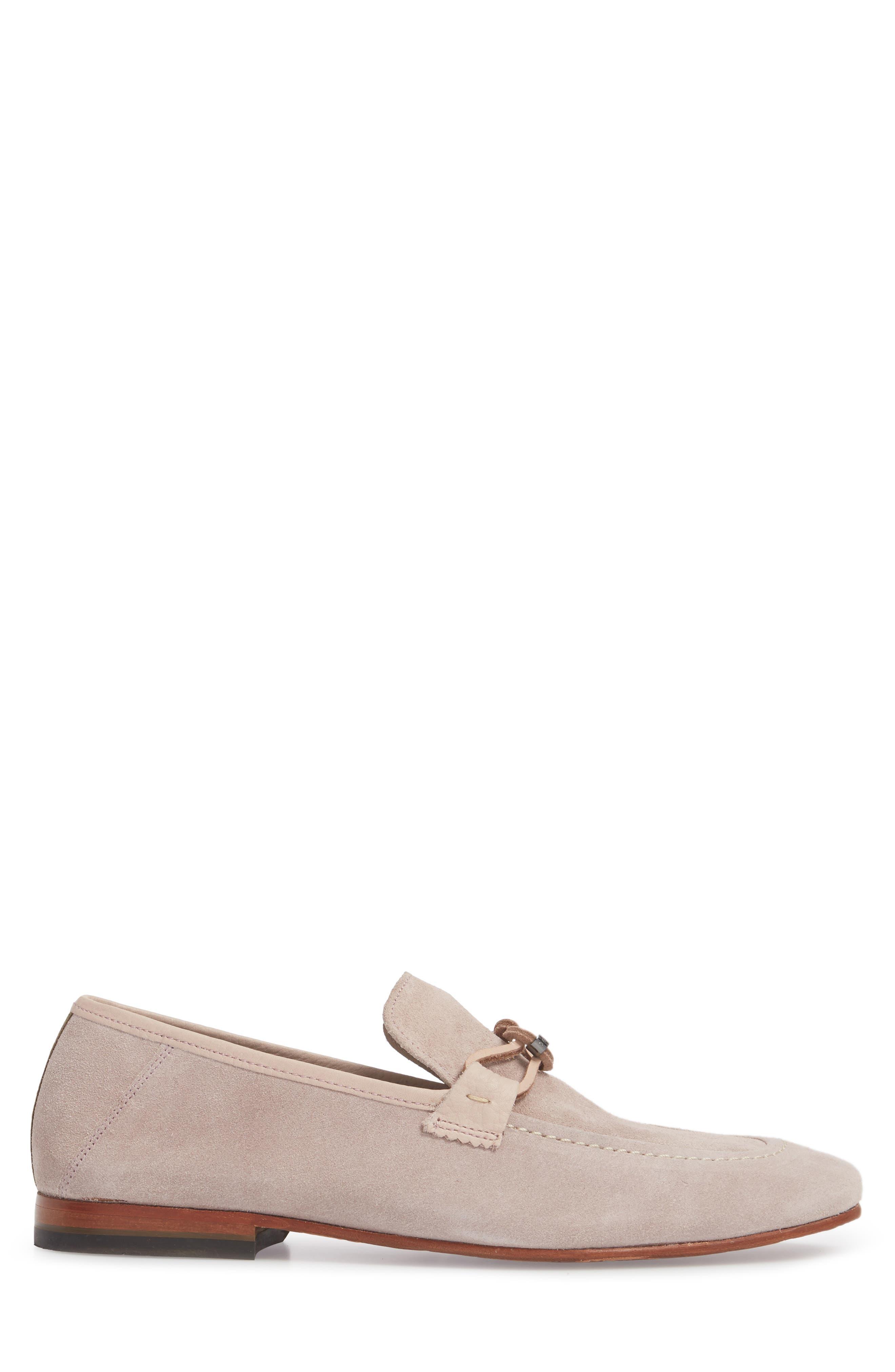 Hoppken Convertible Knotted Loafer,                             Alternate thumbnail 3, color,                             Light Pink Suede